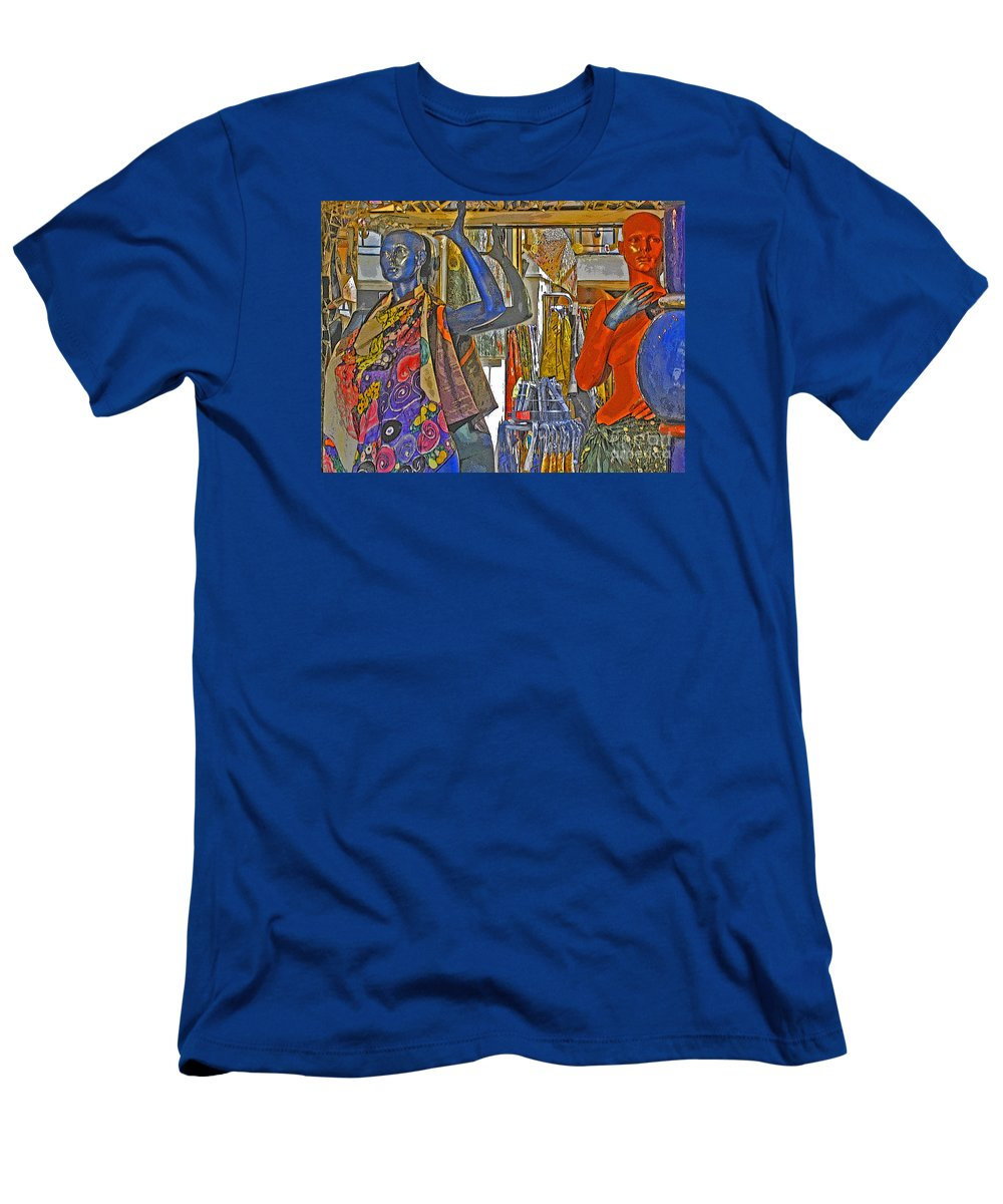 Fashion Men's T-Shirt (Athletic Fit) featuring the photograph Funky Boutique by Ann Horn