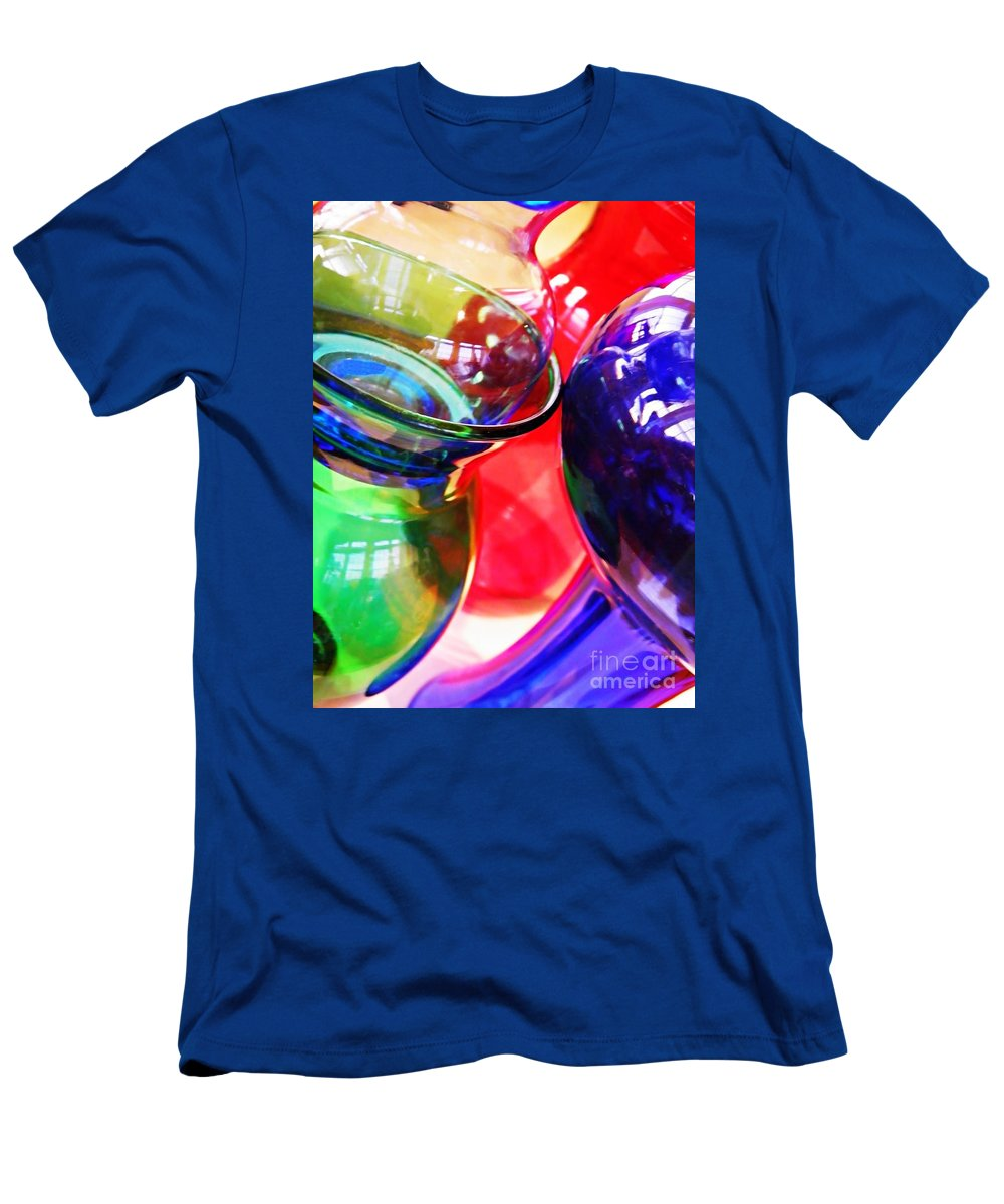 Abstract Men's T-Shirt (Athletic Fit) featuring the photograph Glass Abstract 618 by Sarah Loft