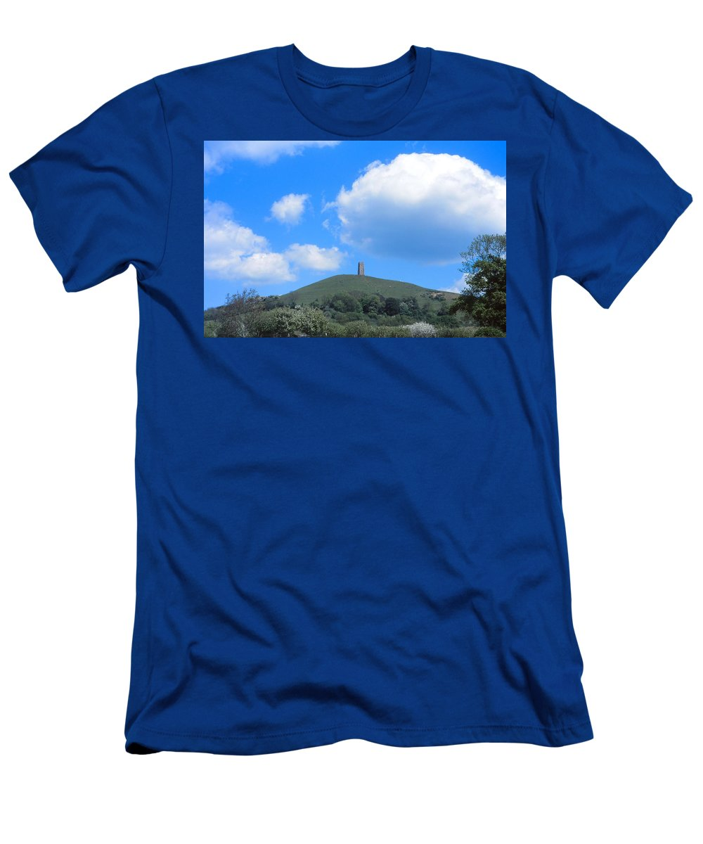Glastonbury Tor Men's T-Shirt (Athletic Fit) featuring the photograph Glastonbury Tor by Cynthia Wallentine