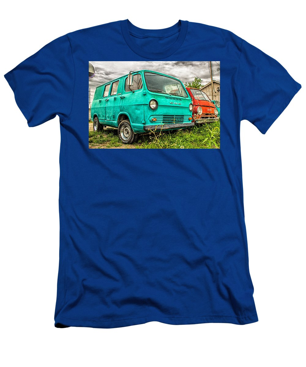 Truck Men's T-Shirt (Athletic Fit) featuring the photograph Gmc Van by Ken Kobe