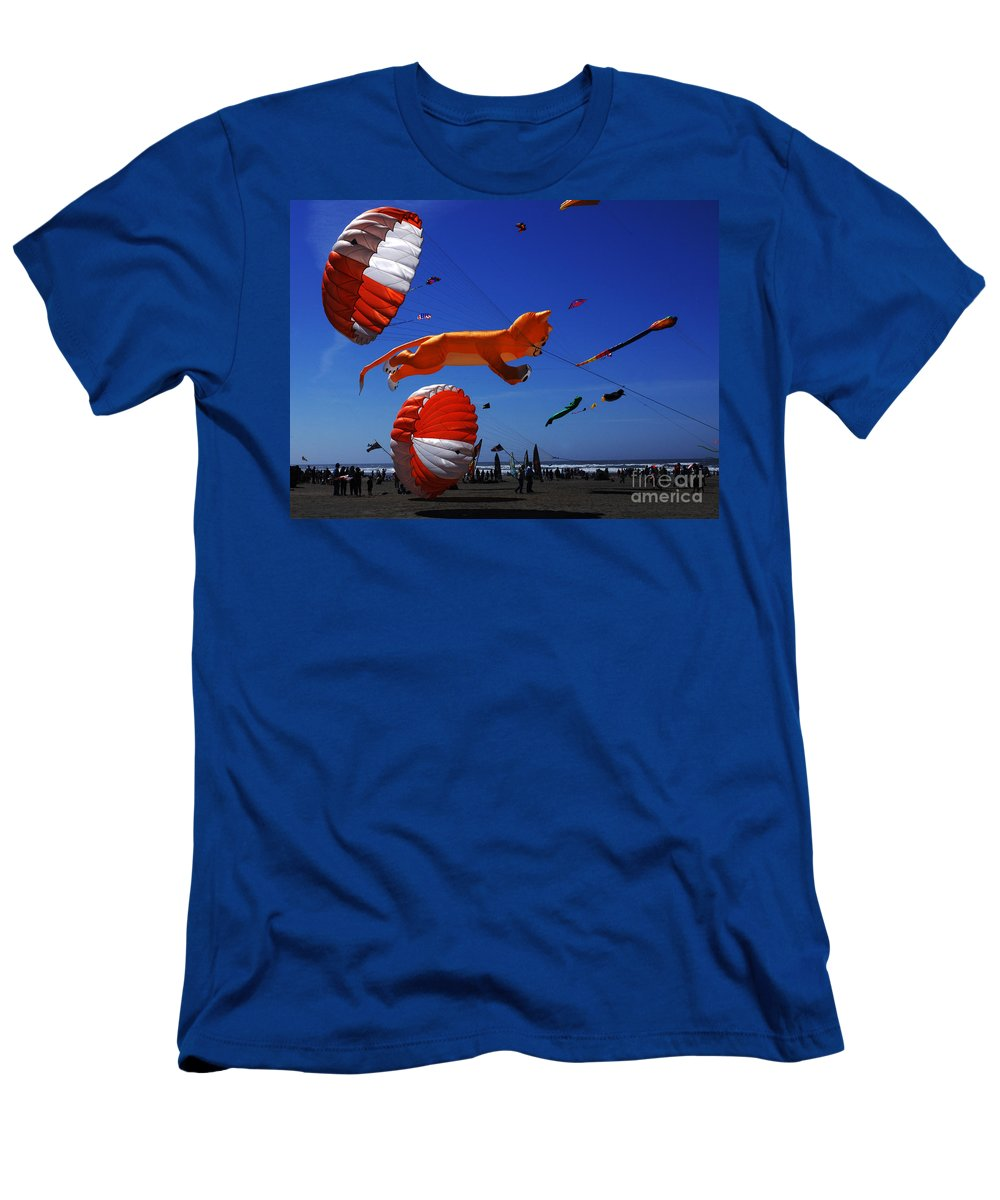 Kite Men's T-Shirt (Athletic Fit) featuring the photograph Go Fly A Kite 1 by Bob Christopher