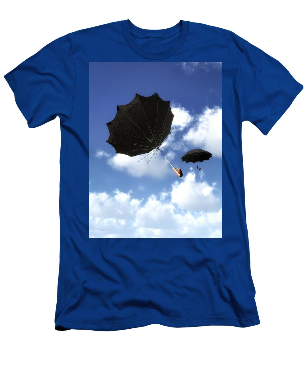 Umbrella Men's T-Shirt (Athletic Fit) featuring the photograph Going Down Fast And Slow by Bob Orsillo