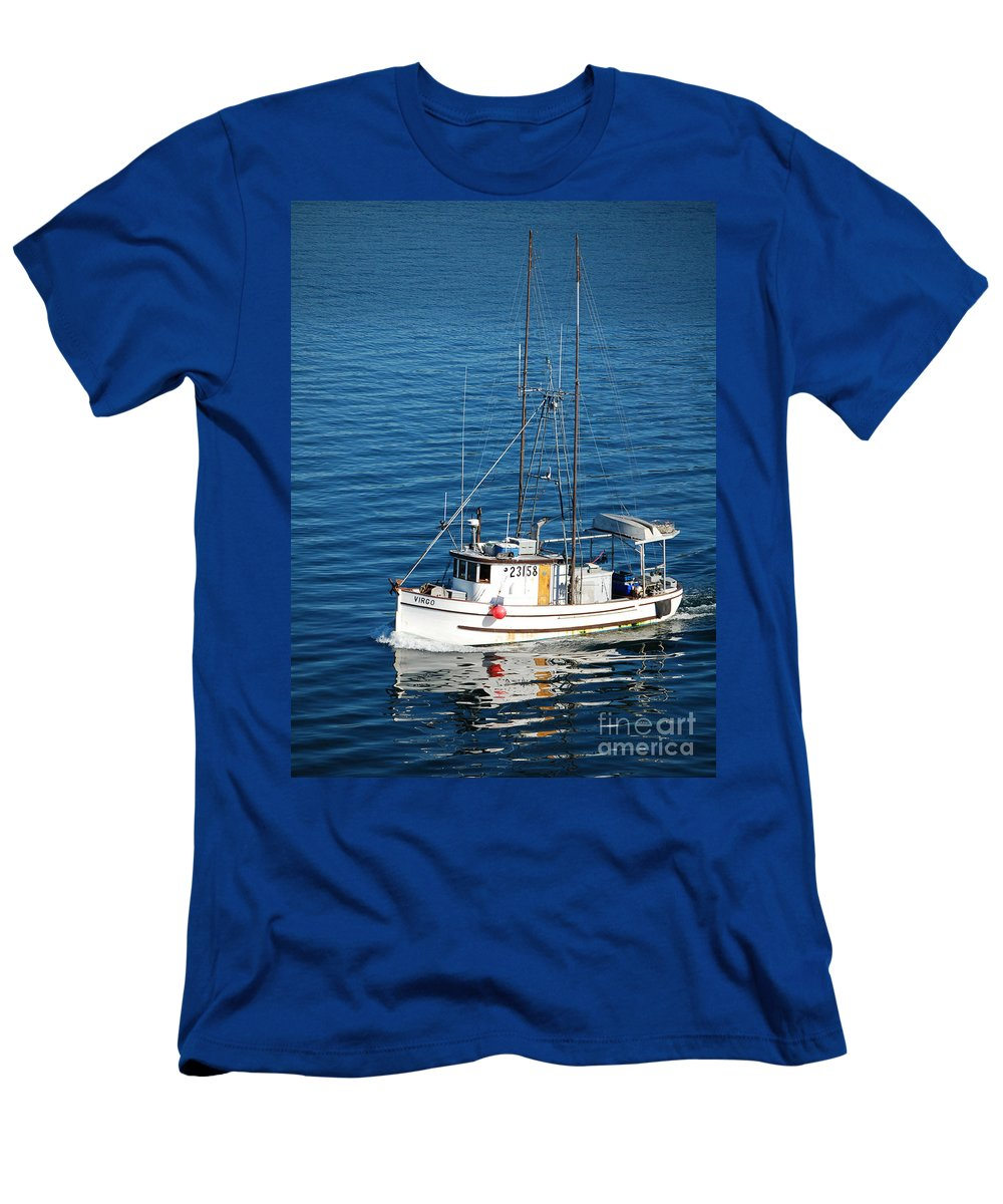 Boat Men's T-Shirt (Athletic Fit) featuring the photograph Going Home by Flamingo Graphix John Ellis
