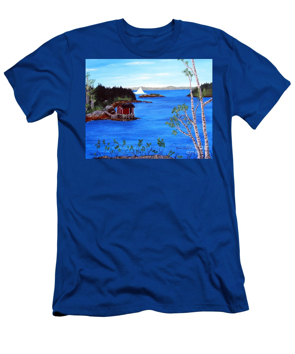 Grounded Iceberg Men's T-Shirt (Athletic Fit) featuring the painting Grounded Iceberg by Barbara Griffin