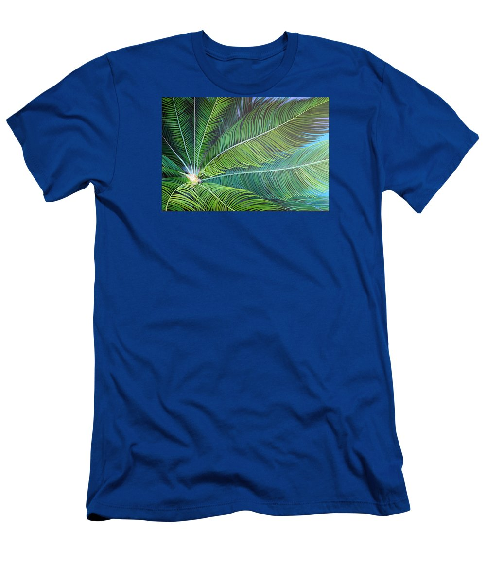 Sago T-Shirt featuring the painting Half a World Away by Hunter Jay