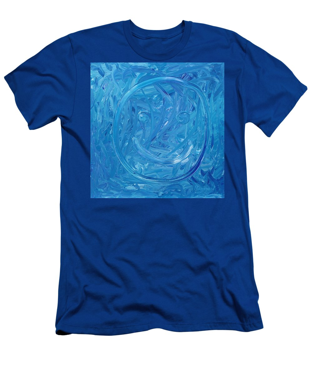 Abstract Men's T-Shirt (Athletic Fit) featuring the painting Happy by David Mayeau