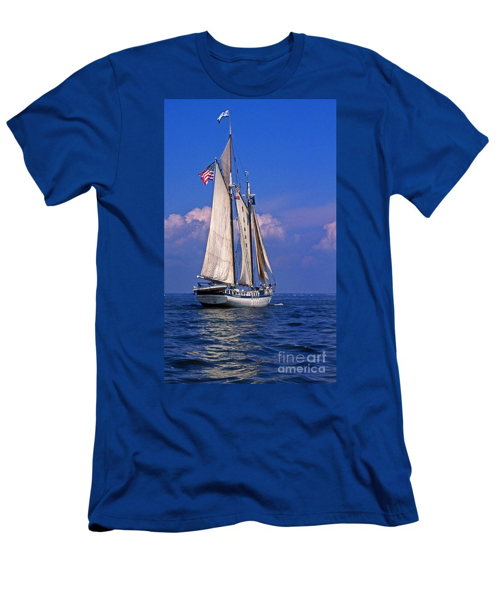 Maritime Men's T-Shirt (Athletic Fit) featuring the photograph Harvey Gamage by Skip Willits