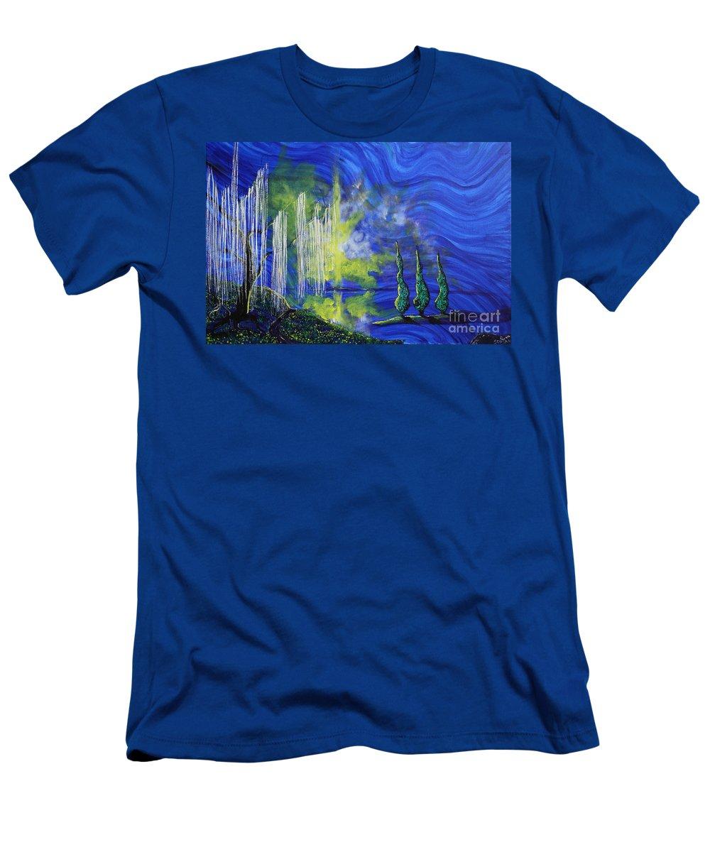 Landscape Men's T-Shirt (Athletic Fit) featuring the painting Healing Heals Me by Stefan Duncan