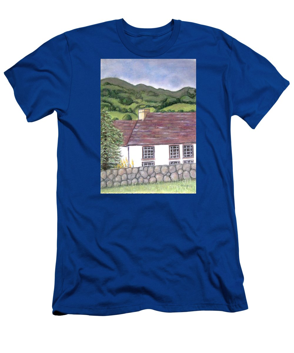 Scotland T-Shirt featuring the pastel Highland Farmhouse by Laurie Morgan