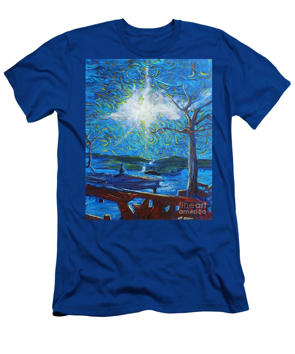 Landscape Men's T-Shirt (Athletic Fit) featuring the painting Hope Beyond Ruin by Stefan Duncan