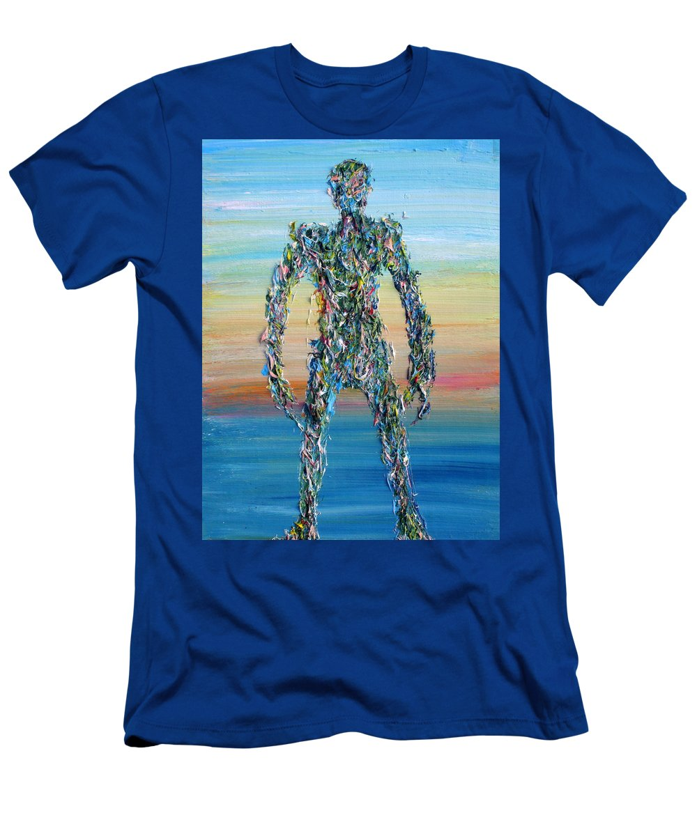 Human Men's T-Shirt (Athletic Fit) featuring the painting Human Syndrome by Fabrizio Cassetta