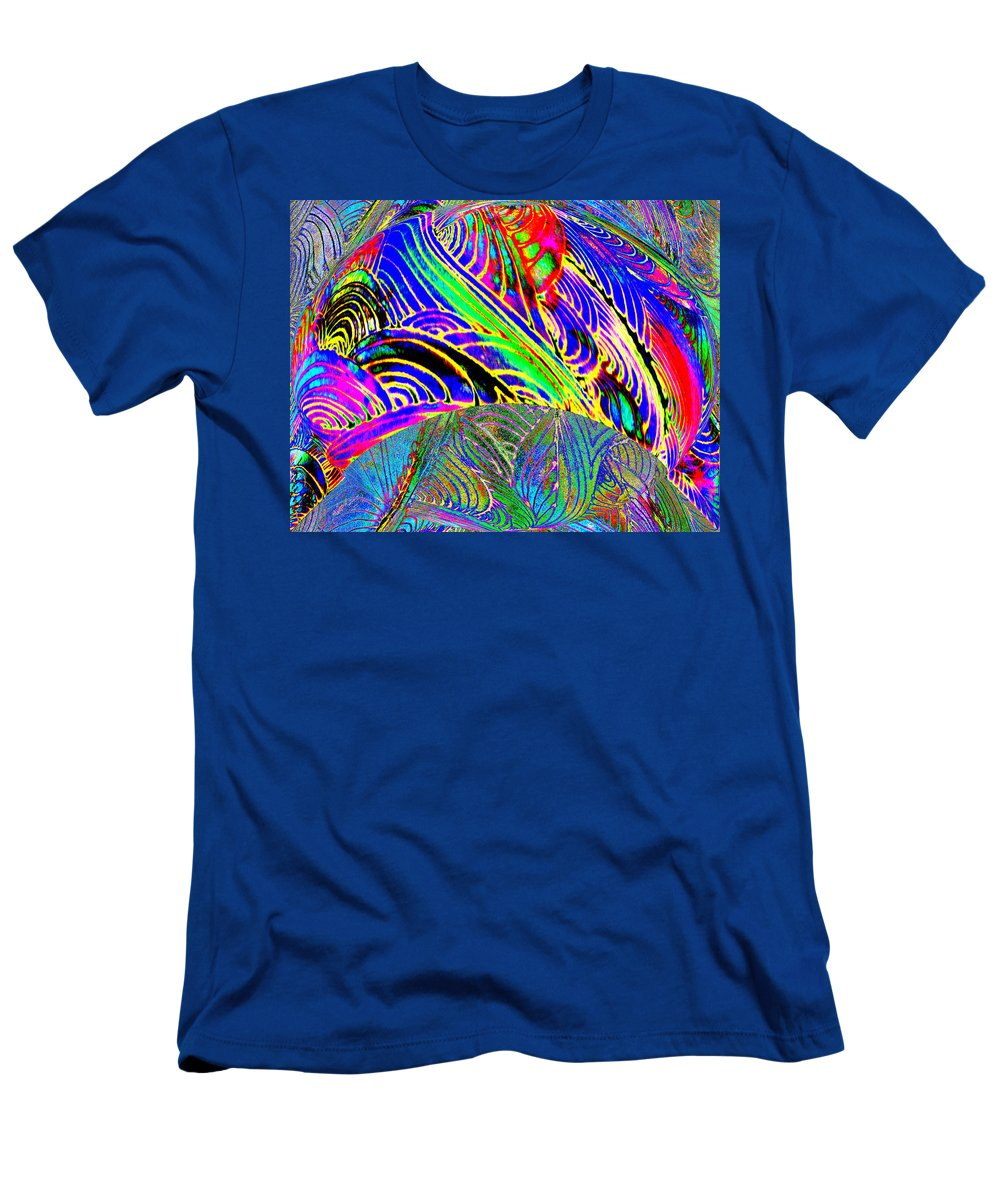 Neon Men's T-Shirt (Athletic Fit) featuring the digital art I Dreamed Of Neon Skies by Wayne Potrafka