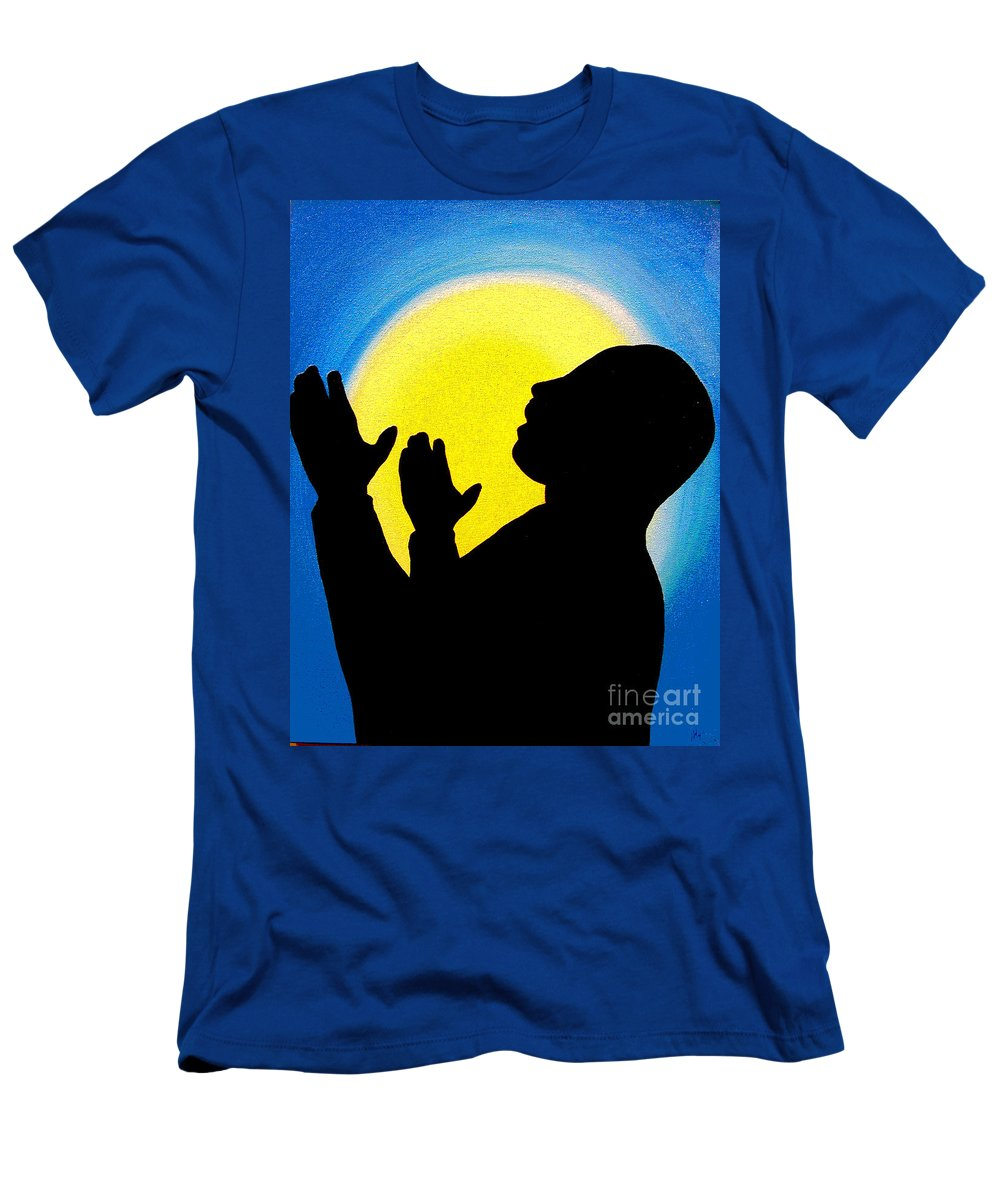 Dr. Martin Luther King Jr Men's T-Shirt (Athletic Fit) featuring the painting I Have A Dream by Alys Caviness-Gober