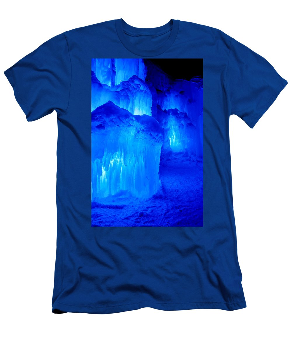 Loon Mountain Men's T-Shirt (Athletic Fit) featuring the photograph Icy by Greg Fortier