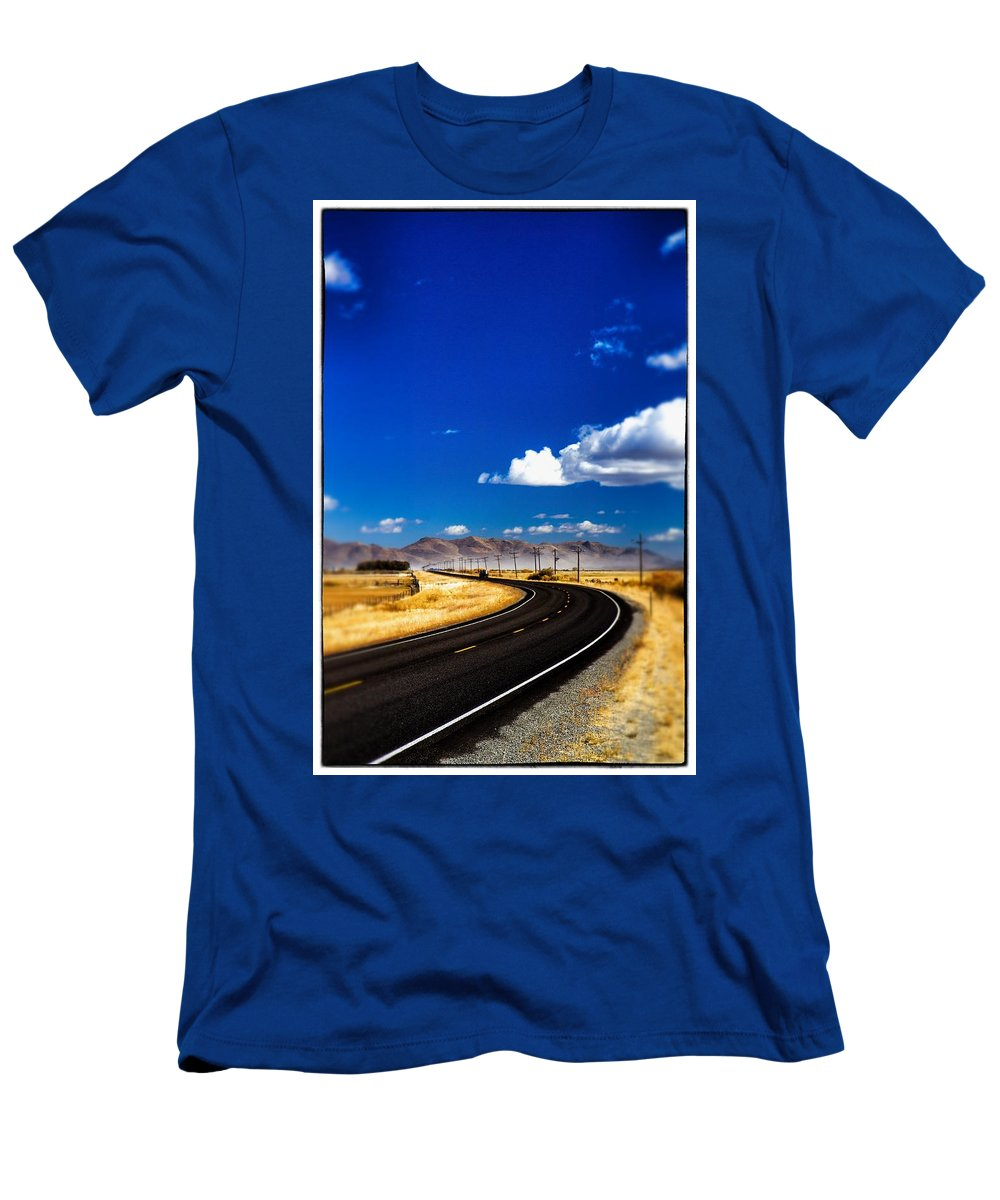 Tilt Shift Men's T-Shirt (Athletic Fit) featuring the photograph Idaho Road Titl Shift by For Ninety One Days