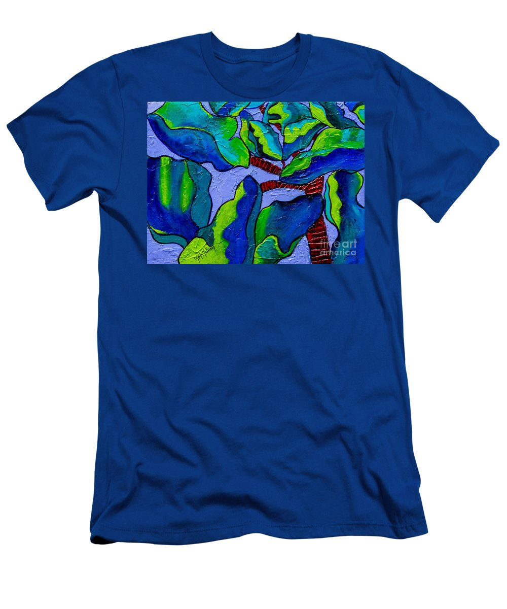 Plant Paintings Men's T-Shirt (Athletic Fit) featuring the painting If Dragons Were Plants by Marta Tollerup