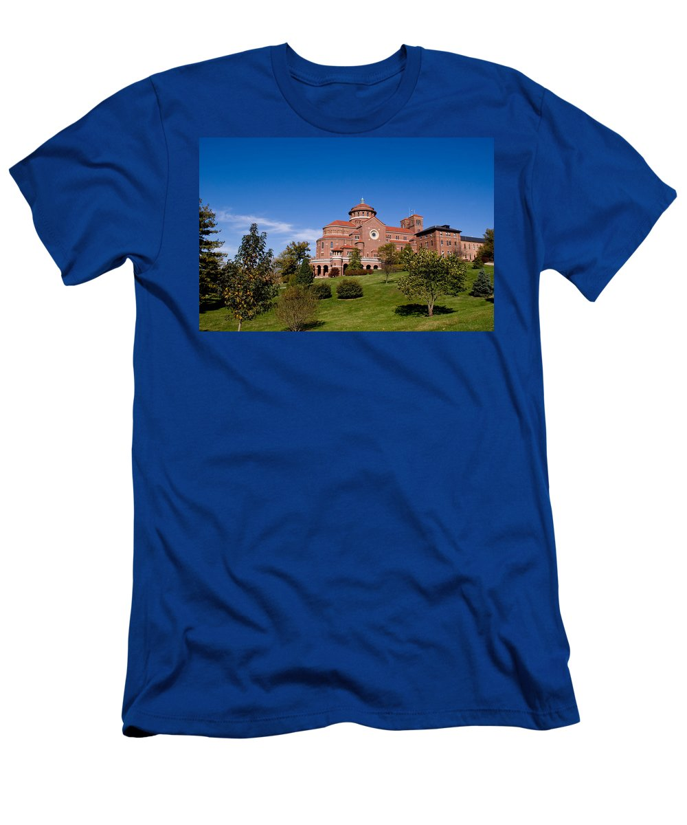 Monasteries Men's T-Shirt (Athletic Fit) featuring the photograph Immaculate Conception Monastery by Sandy Keeton