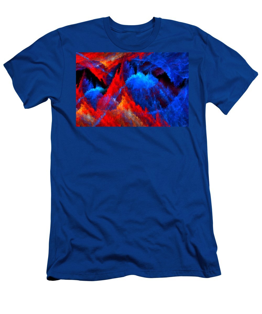 Colors Men's T-Shirt (Athletic Fit) featuring the digital art Inducers by Lourry Legarde