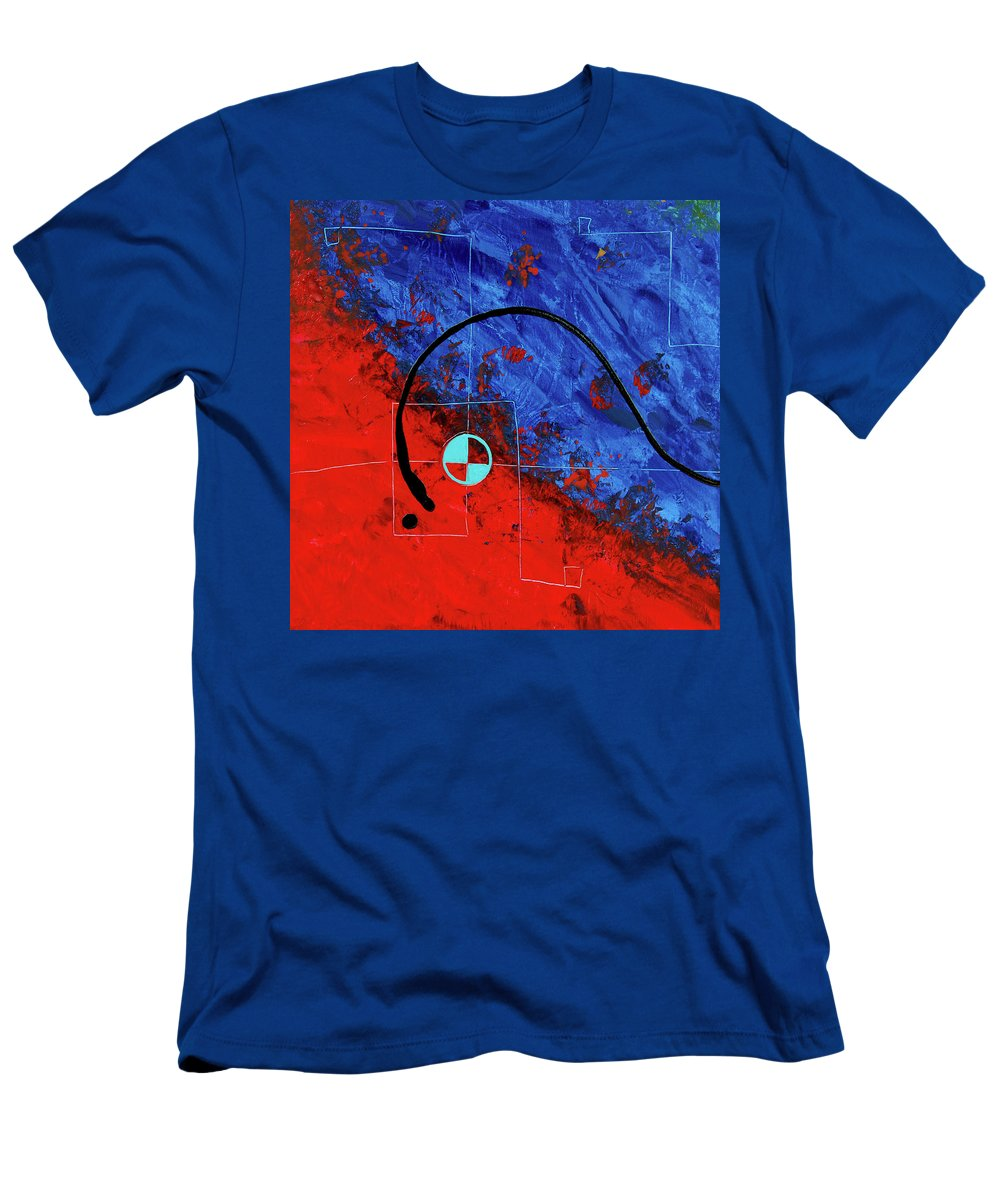 Sharon Cummings Men's T-Shirt (Athletic Fit) featuring the painting Jealous Bones 1 by Sharon Cummings