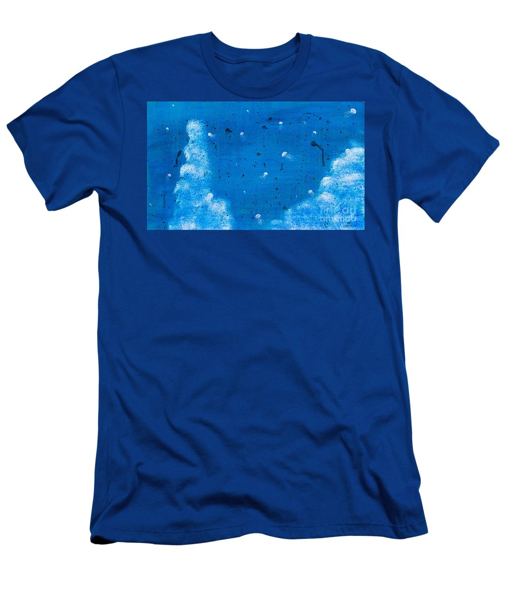 Men's T-Shirt (Athletic Fit) featuring the painting Jellyfish by Stefanie Forck