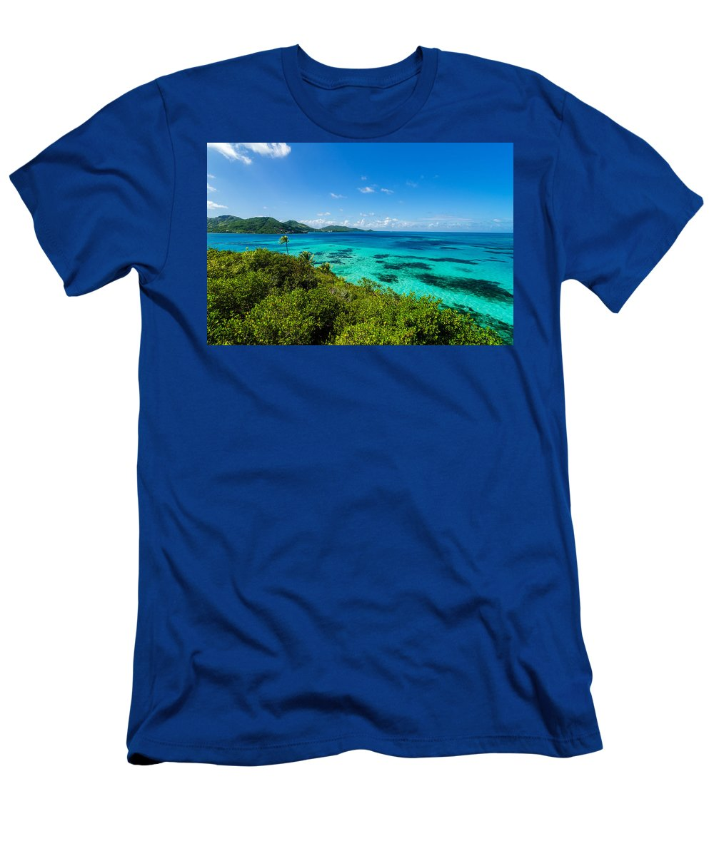 Bay Men's T-Shirt (Athletic Fit) featuring the photograph Jungle And Turquoise Water by Jess Kraft