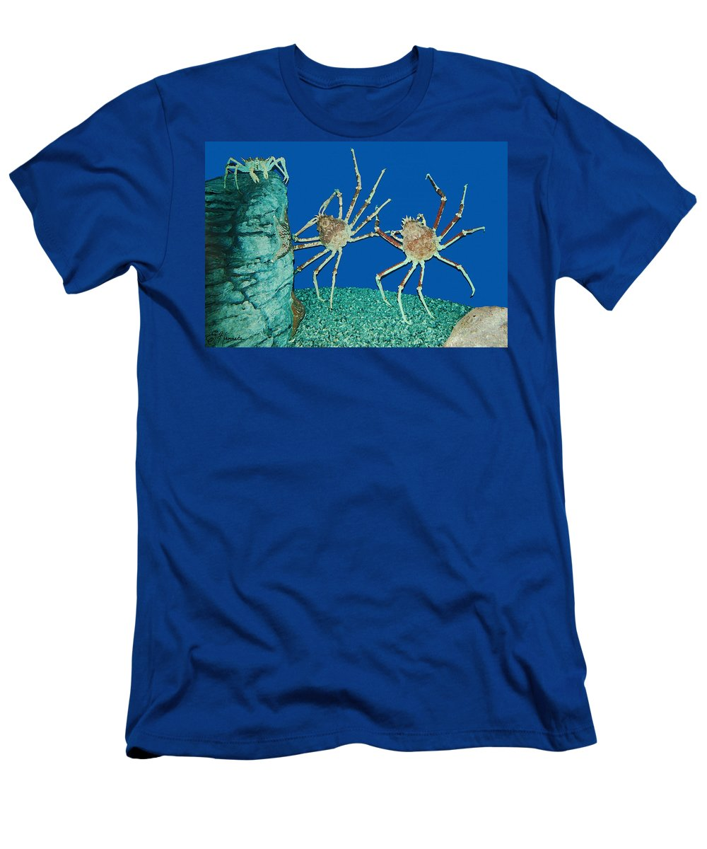 Kick Up Your Heels Men's T-Shirt (Athletic Fit) featuring the painting Kick Up Your Heels by Ellen Henneke