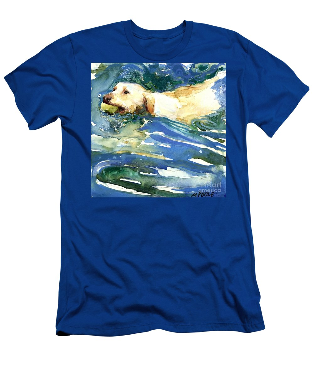 Lake Men's T-Shirt (Athletic Fit) featuring the painting Lake Effect by Molly Poole