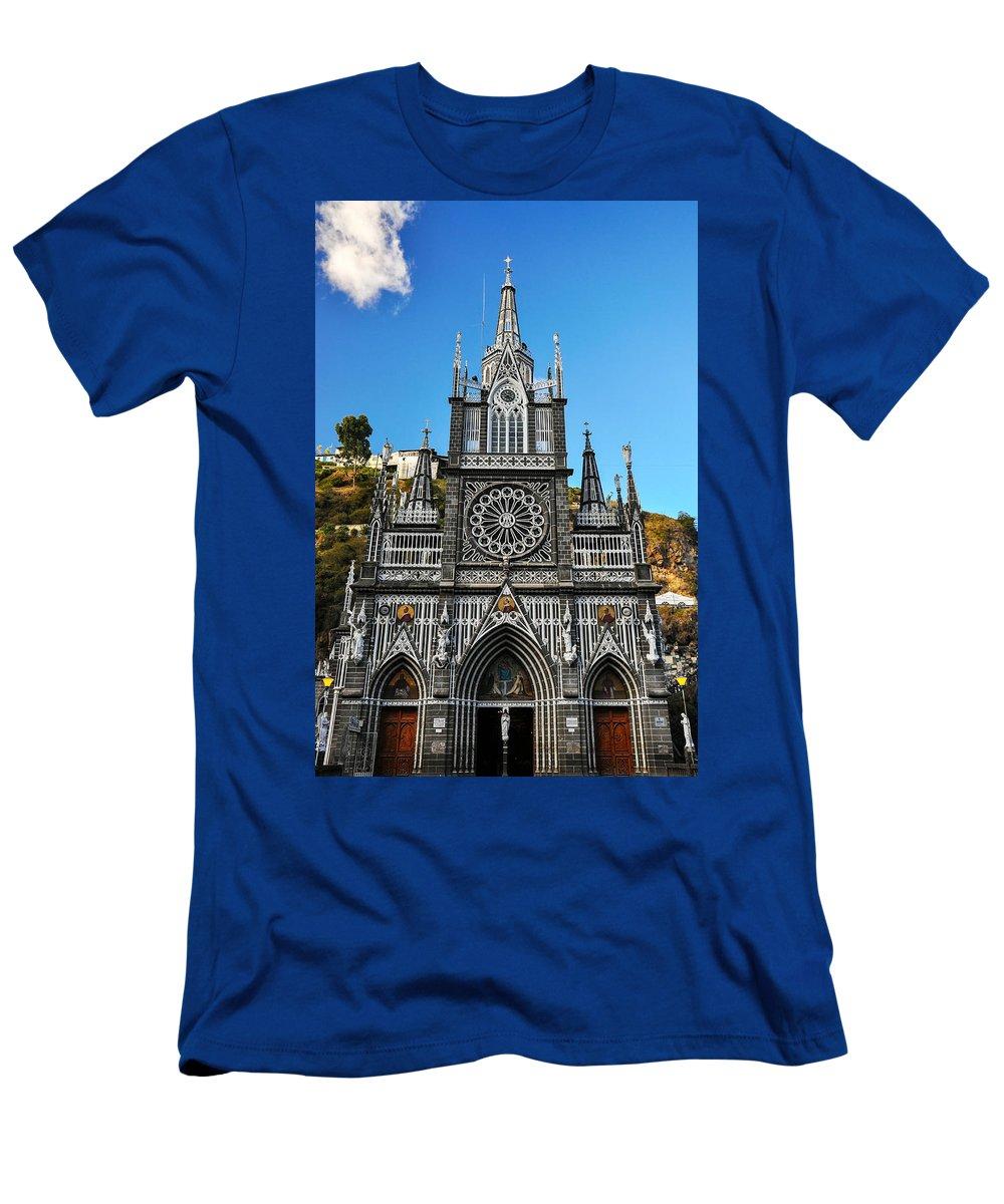 Las Men's T-Shirt (Athletic Fit) featuring the photograph Las Lajas Front by Jess Kraft