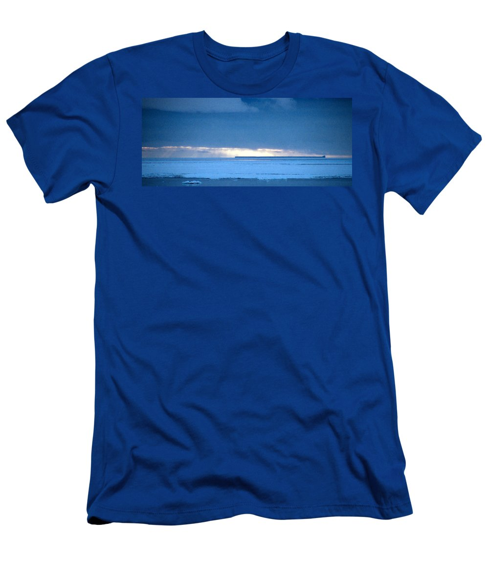 Vast Men's T-Shirt (Athletic Fit) featuring the photograph Late Afternoon Storm Antarctica by Carole-Anne Fooks