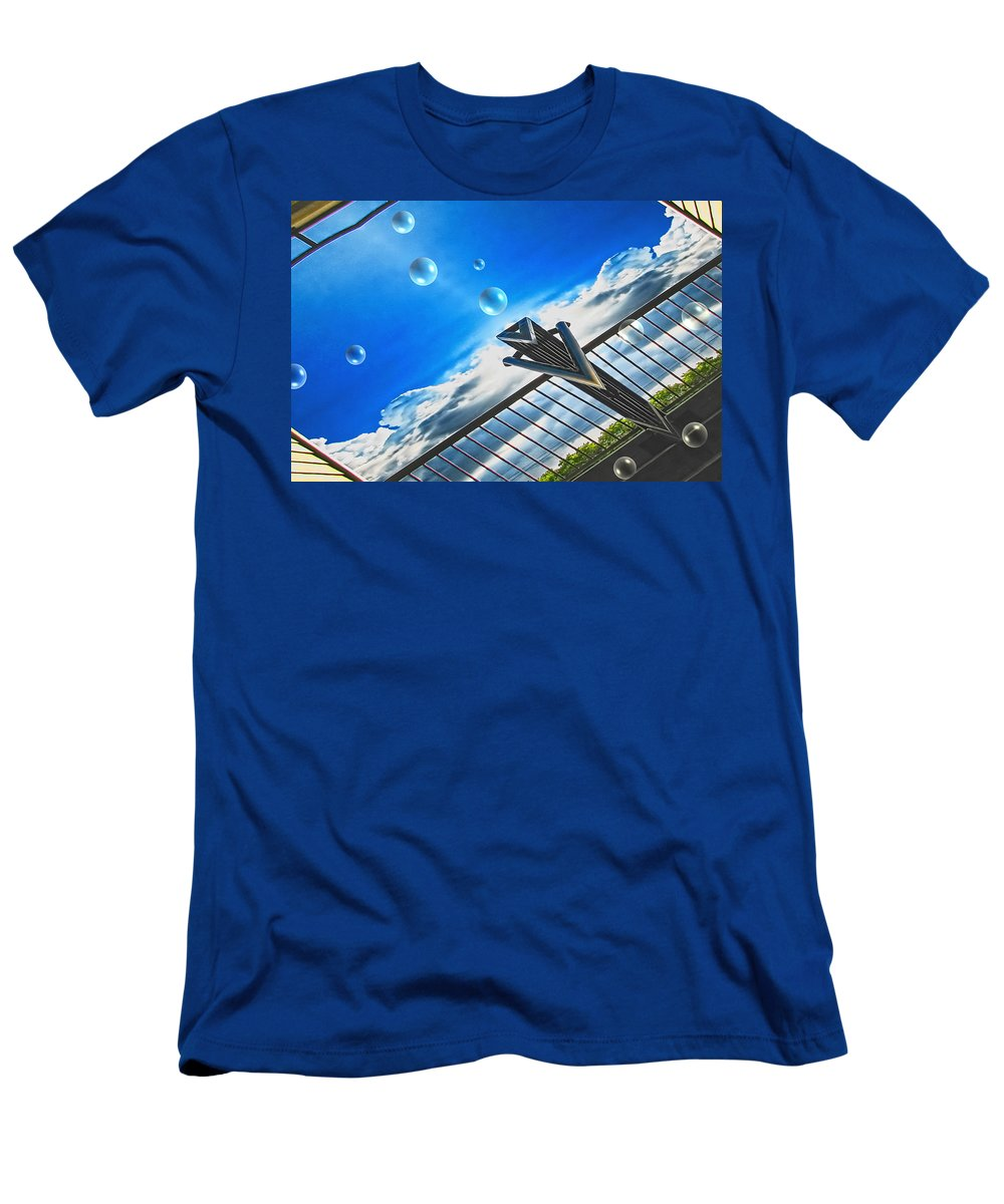 Bubbles Men's T-Shirt (Athletic Fit) featuring the digital art Letting Go by Wendy J St Christopher