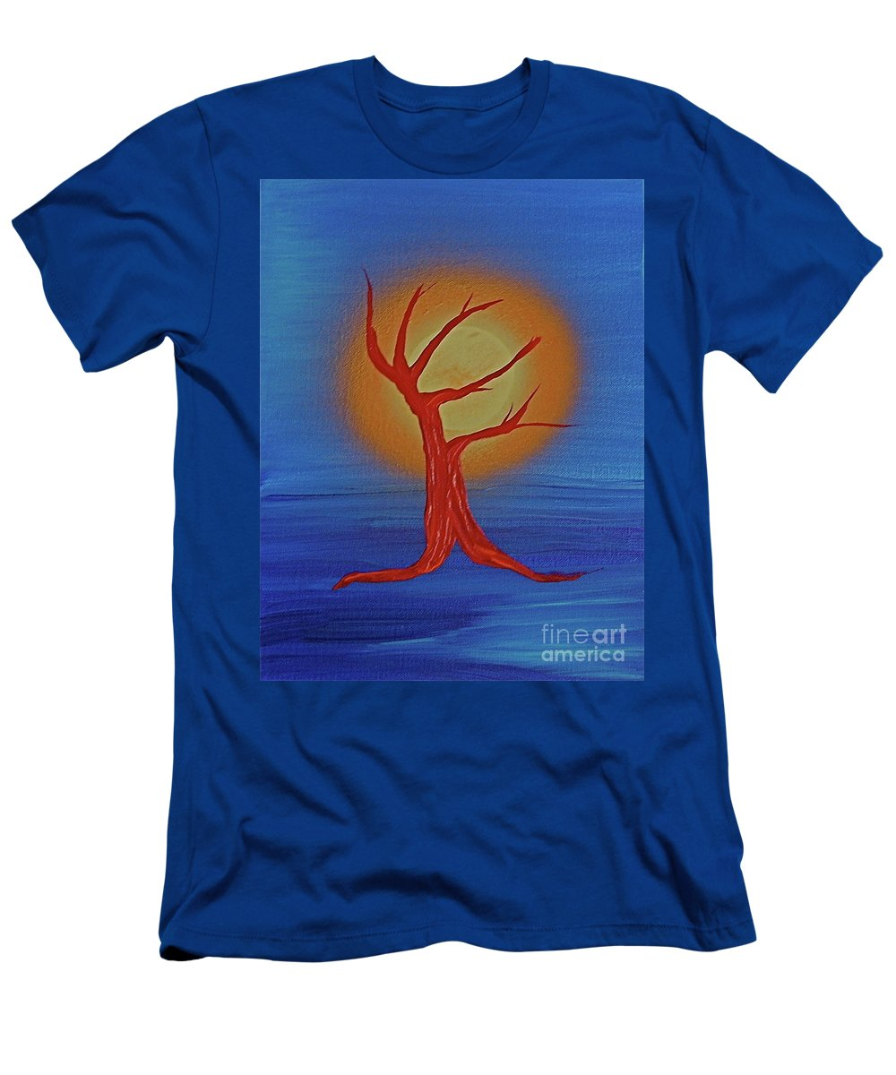 Tree Men's T-Shirt (Athletic Fit) featuring the painting Life Blood By Jrr by First Star Art