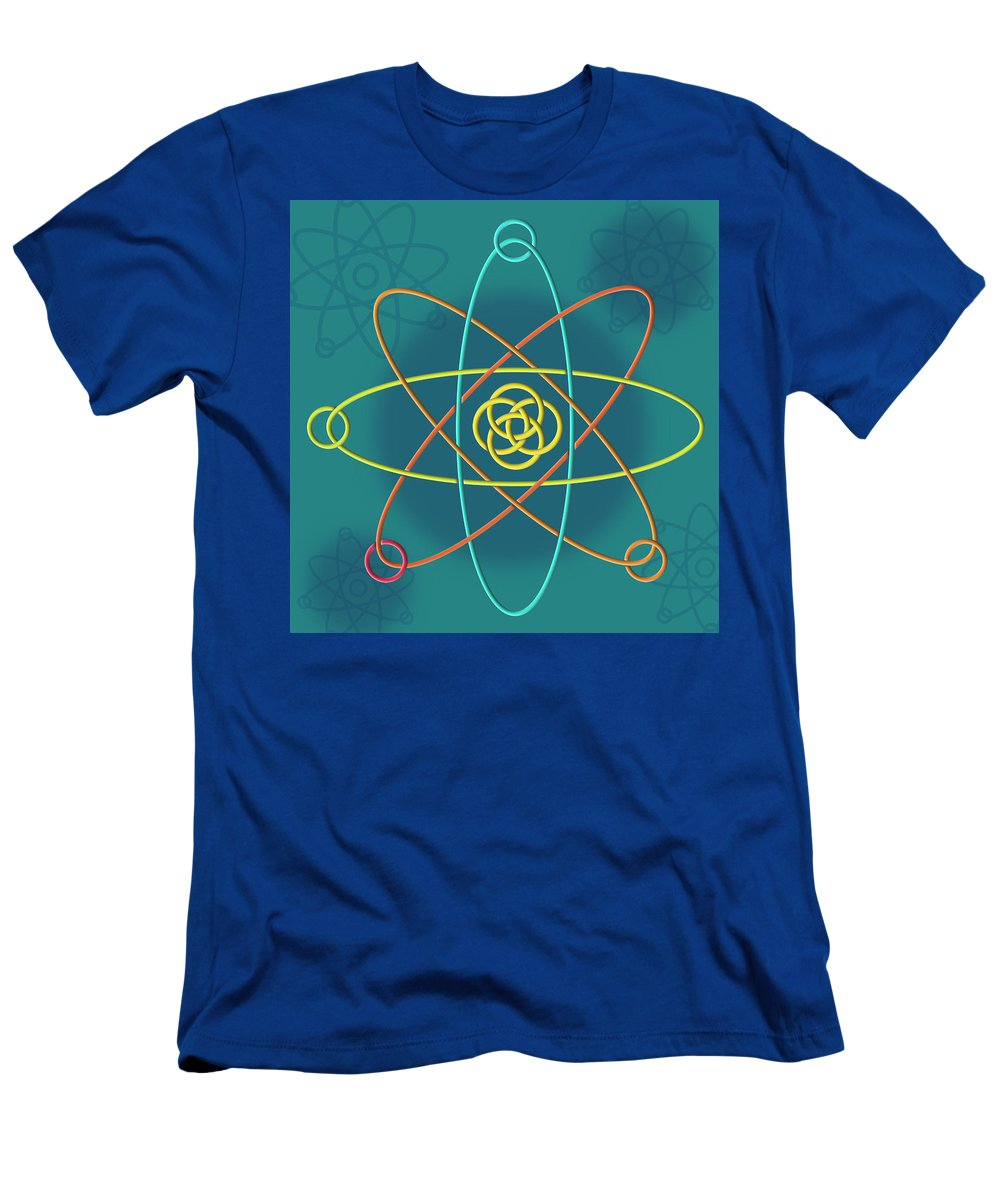atomic Structure Men's T-Shirt (Athletic Fit) featuring the digital art Line Atomic Structure by Thisis Notme
