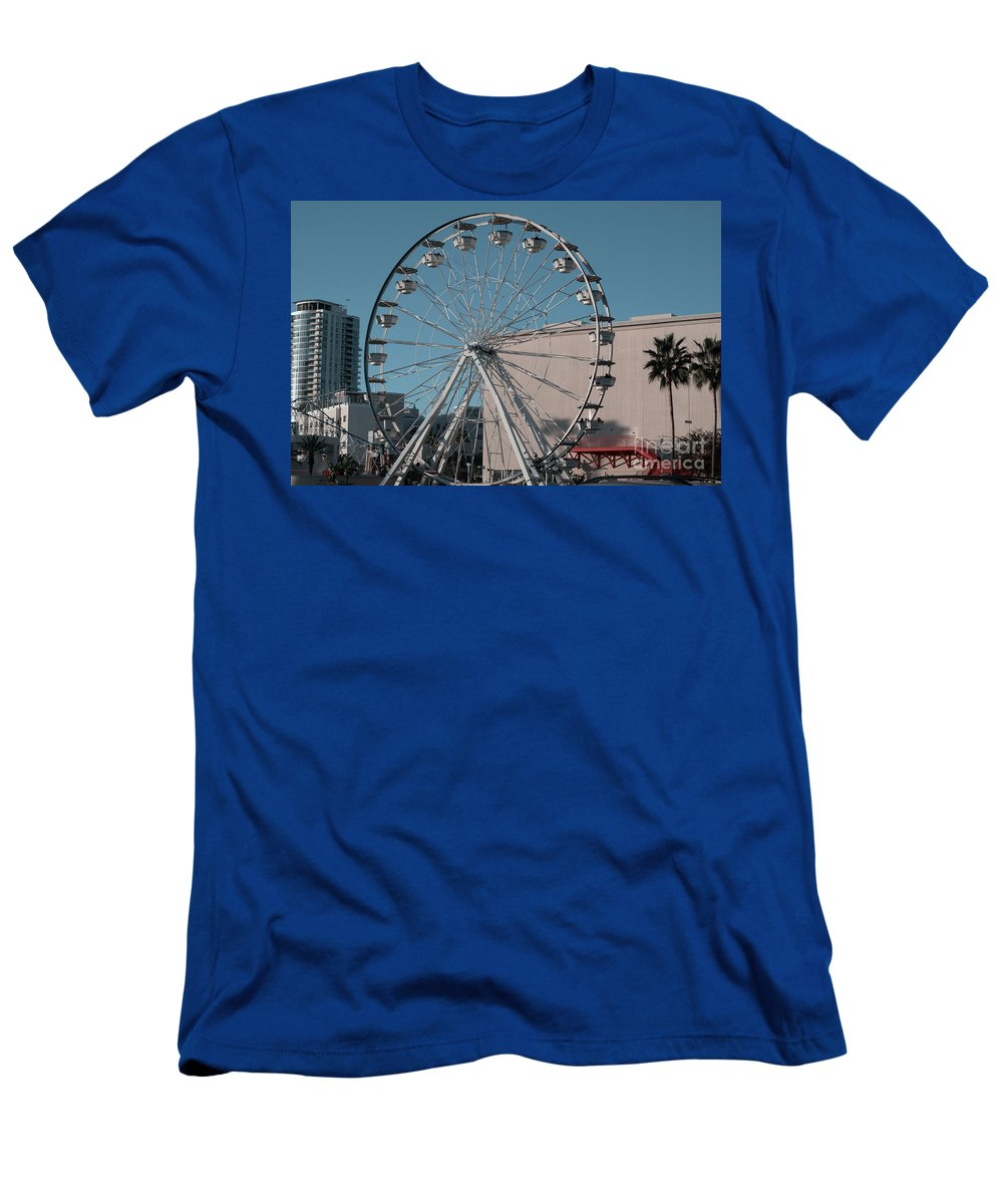 Clay Men's T-Shirt (Athletic Fit) featuring the photograph Long Beach In Technicolor by Clayton Bruster