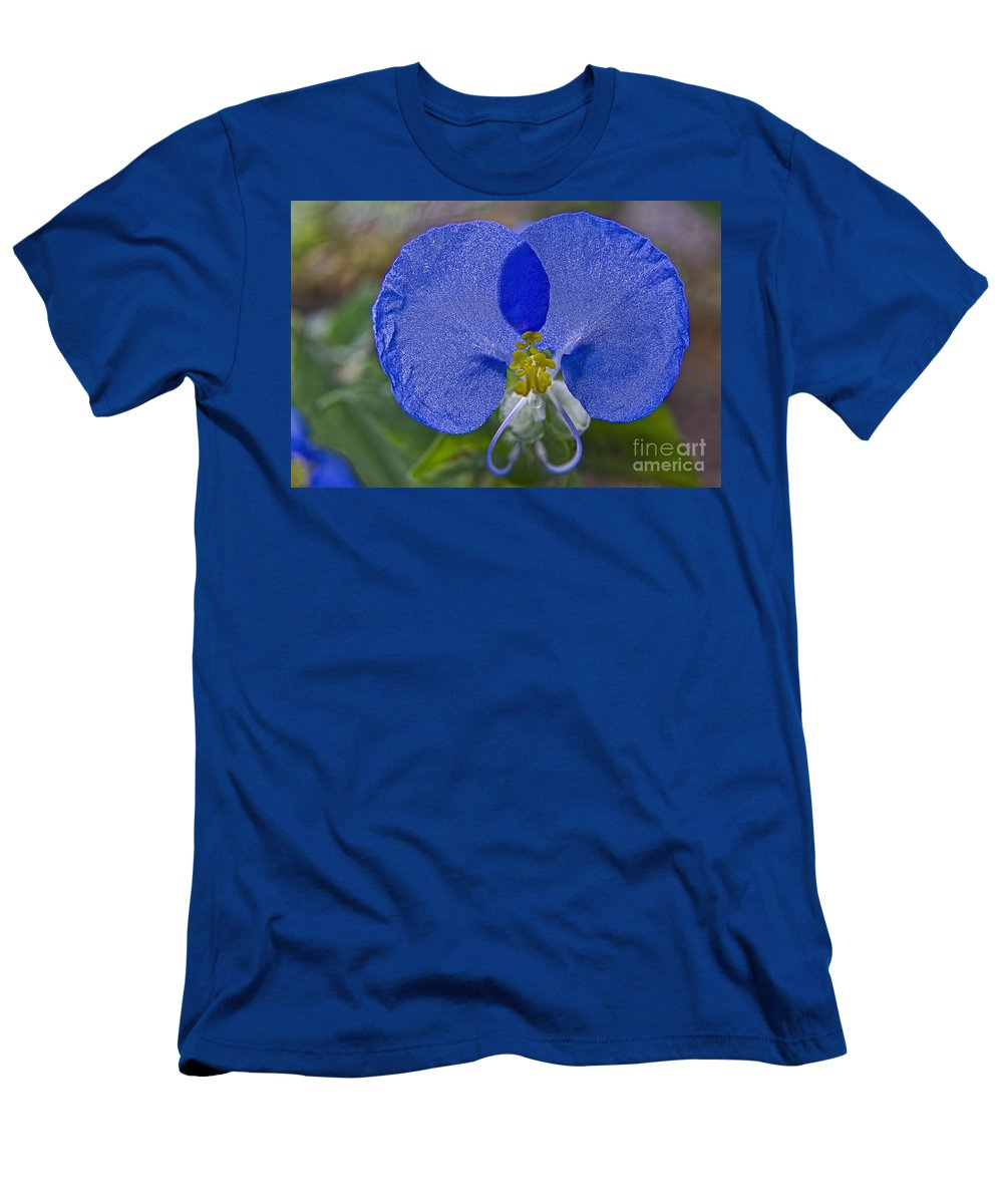 Mickey Mouse Flower Men's T-Shirt (Athletic Fit) featuring the photograph Mickey Mouse Flower by Gary Holmes