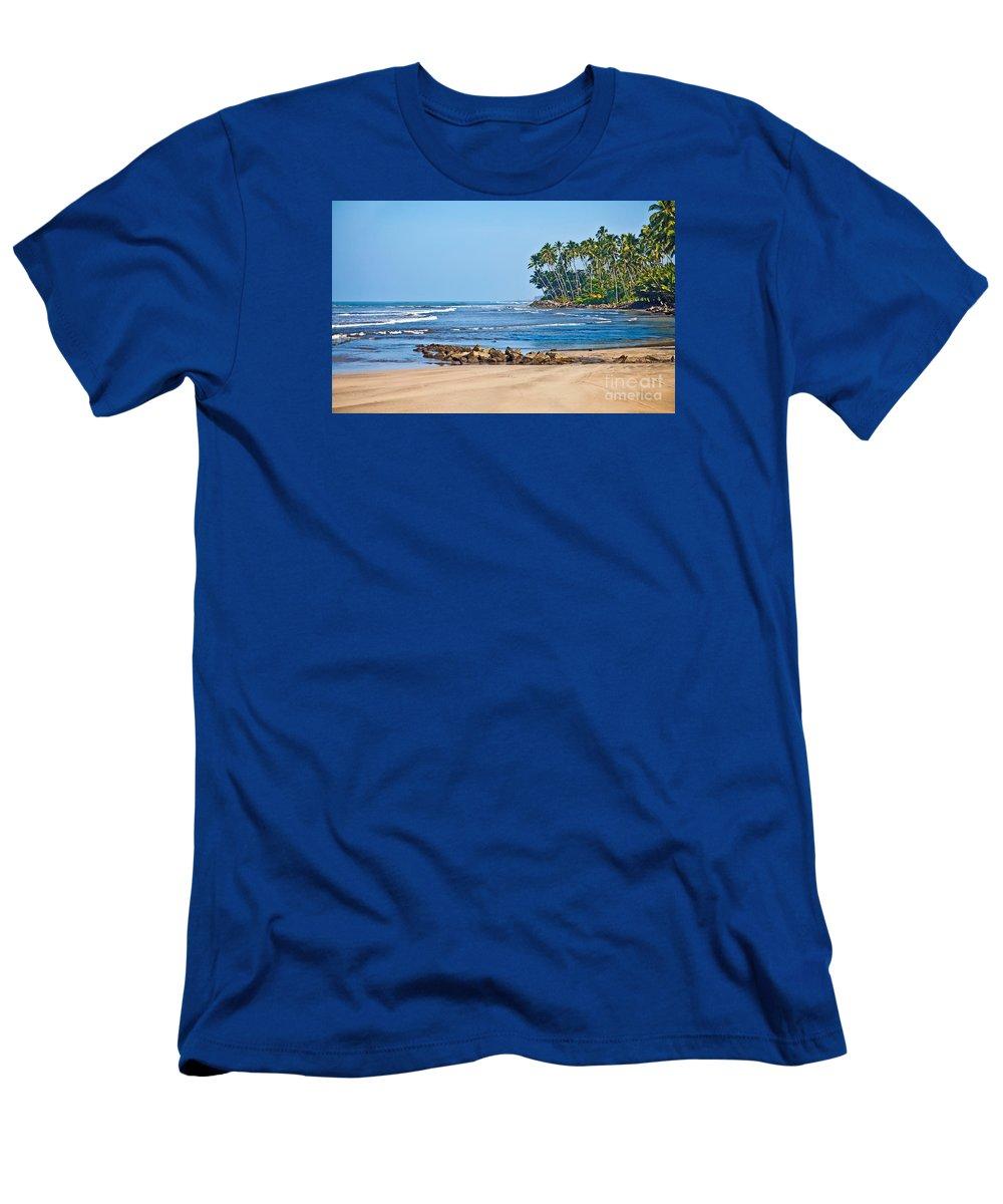 Mirissa Men's T-Shirt (Athletic Fit) featuring the photograph Mirissa Beach Sri Lanka by Liz Leyden