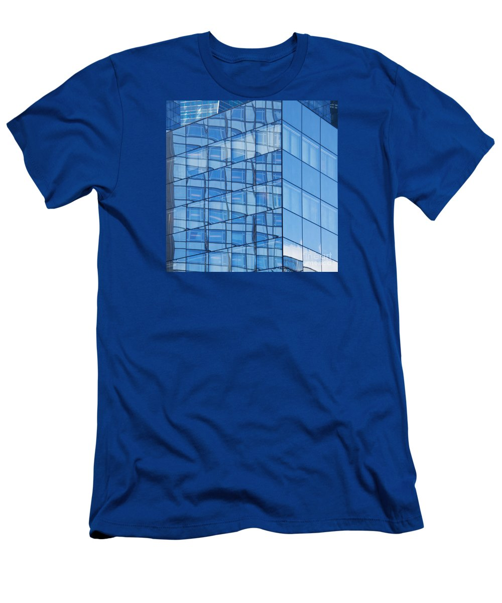 Abstract Men's T-Shirt (Athletic Fit) featuring the photograph Modern Architecture Abstract by Liz Leyden