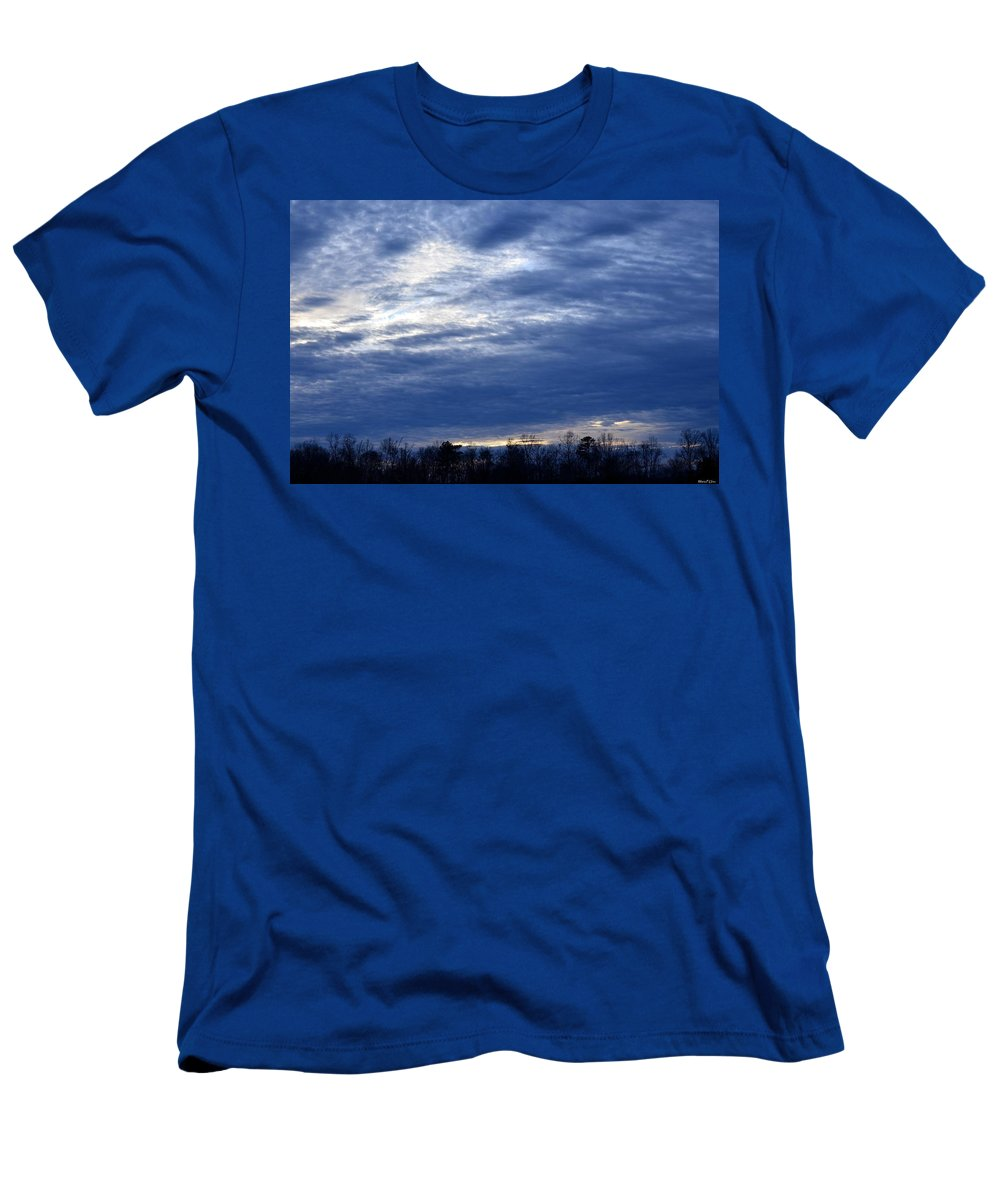 Morning Blue Men's T-Shirt (Athletic Fit) featuring the photograph Morning Blue by Maria Urso