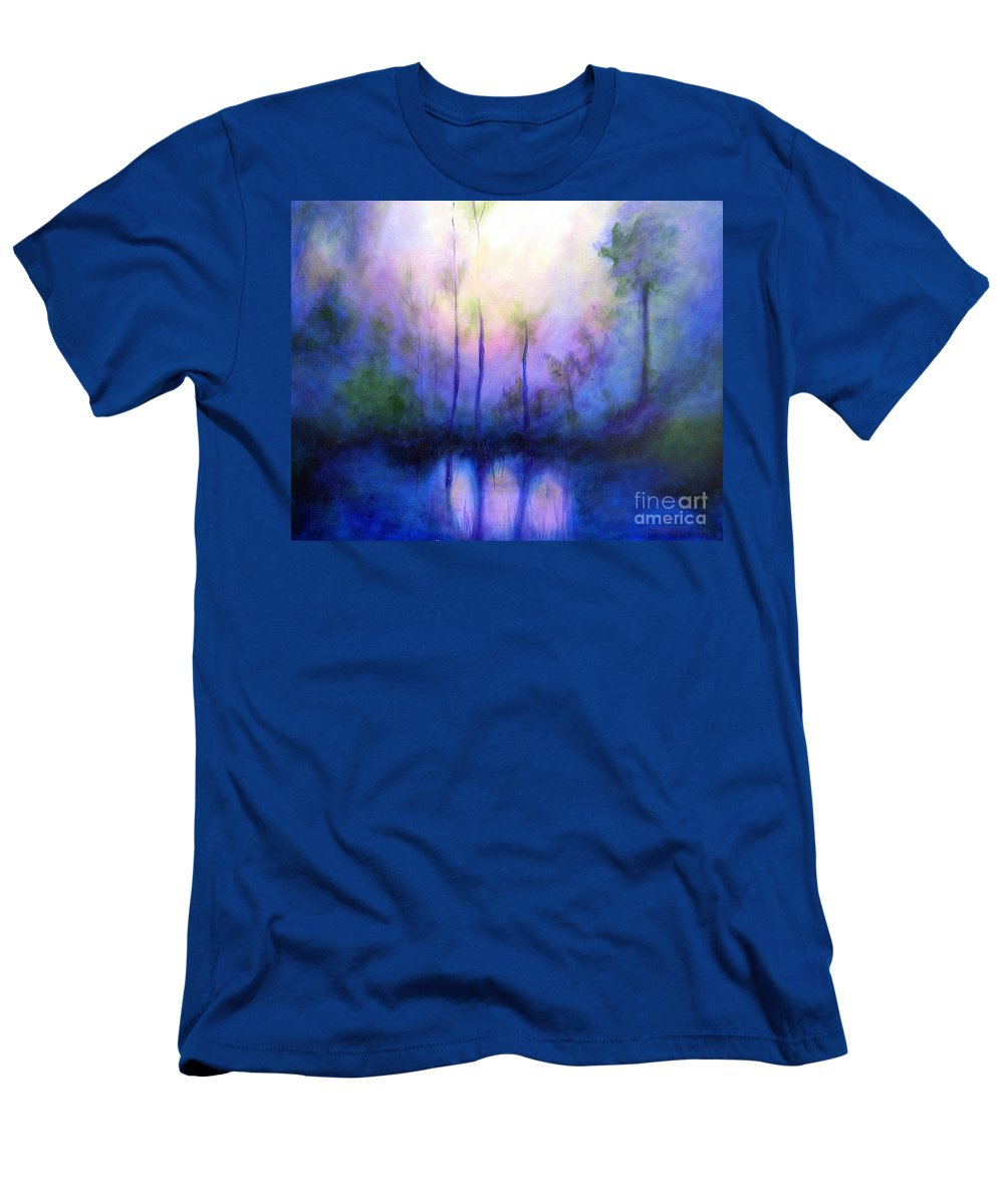 Impressionist Men's T-Shirt (Athletic Fit) featuring the painting Morning Symphony by Alison Caltrider