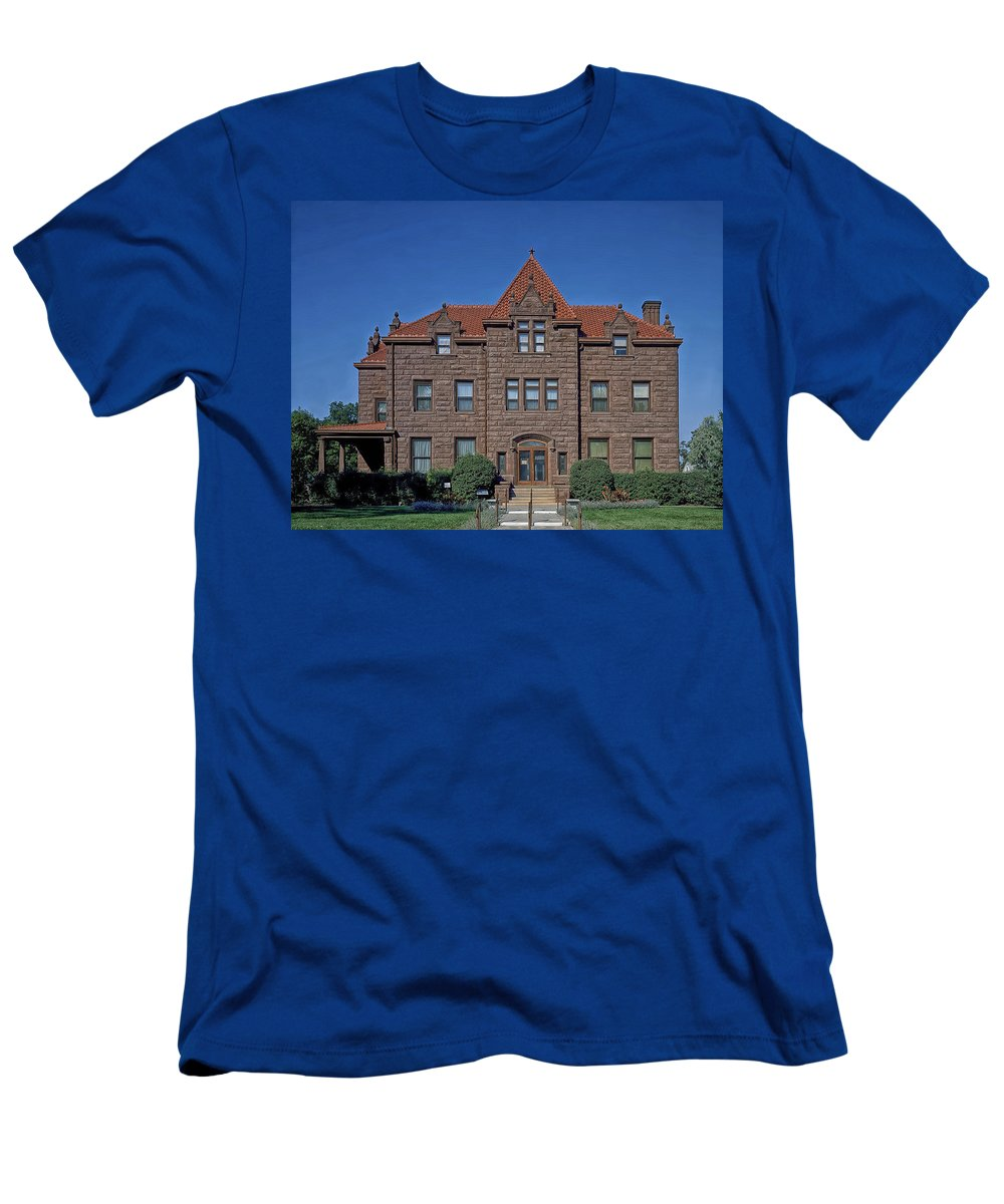 Billings Men's T-Shirt (Athletic Fit) featuring the photograph Moss Mansion - Billings Montana by Mountain Dreams