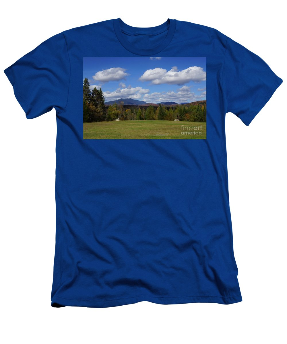 Adirondacks Men's T-Shirt (Athletic Fit) featuring the photograph Mountain View by Jeffery L Bowers