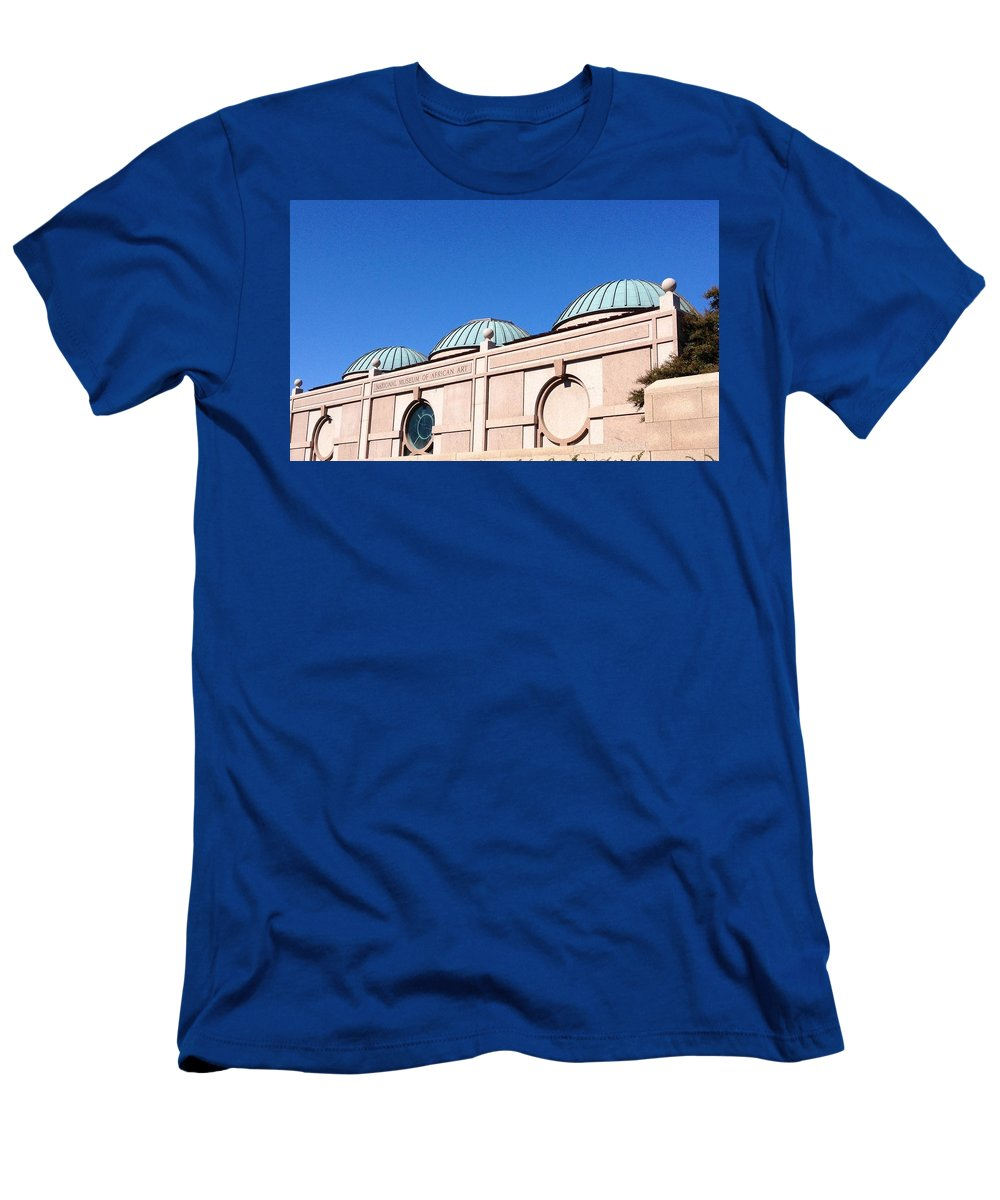 Washington Men's T-Shirt (Athletic Fit) featuring the photograph National Museum Of African Art by Lois Ivancin Tavaf
