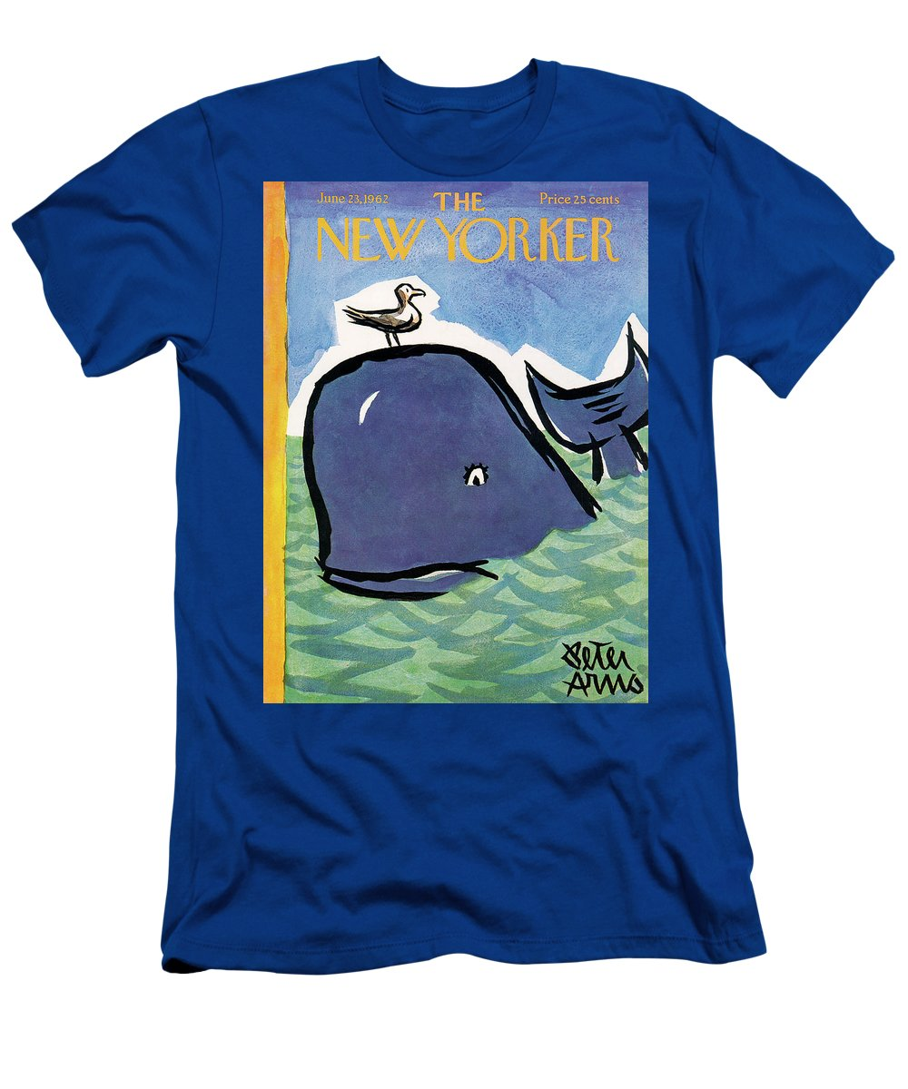 Sea T-Shirt featuring the painting New Yorker June 23rd, 1962 by Peter Arno