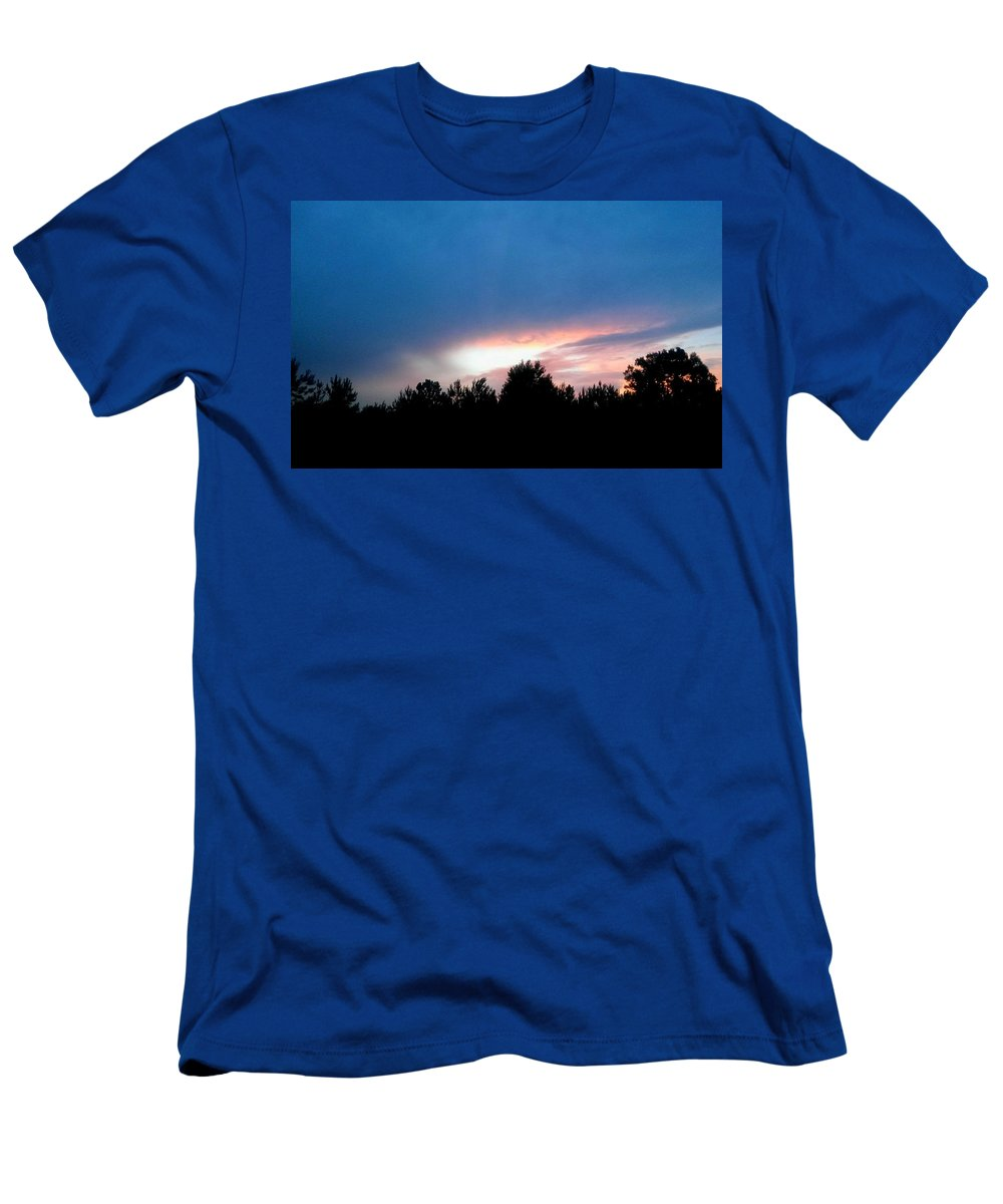 Night Falls Men's T-Shirt (Athletic Fit) featuring the photograph Night Falls by Maria Urso