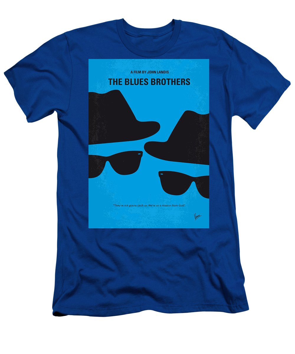 Blues T-Shirt featuring the digital art No012 My blues brother minimal movie poster by Chungkong Art