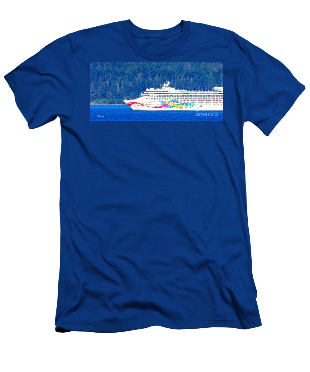 Cruise Ship Men's T-Shirt (Athletic Fit) featuring the photograph Norwegian Jewel Cruise Ship by Tap On Photo