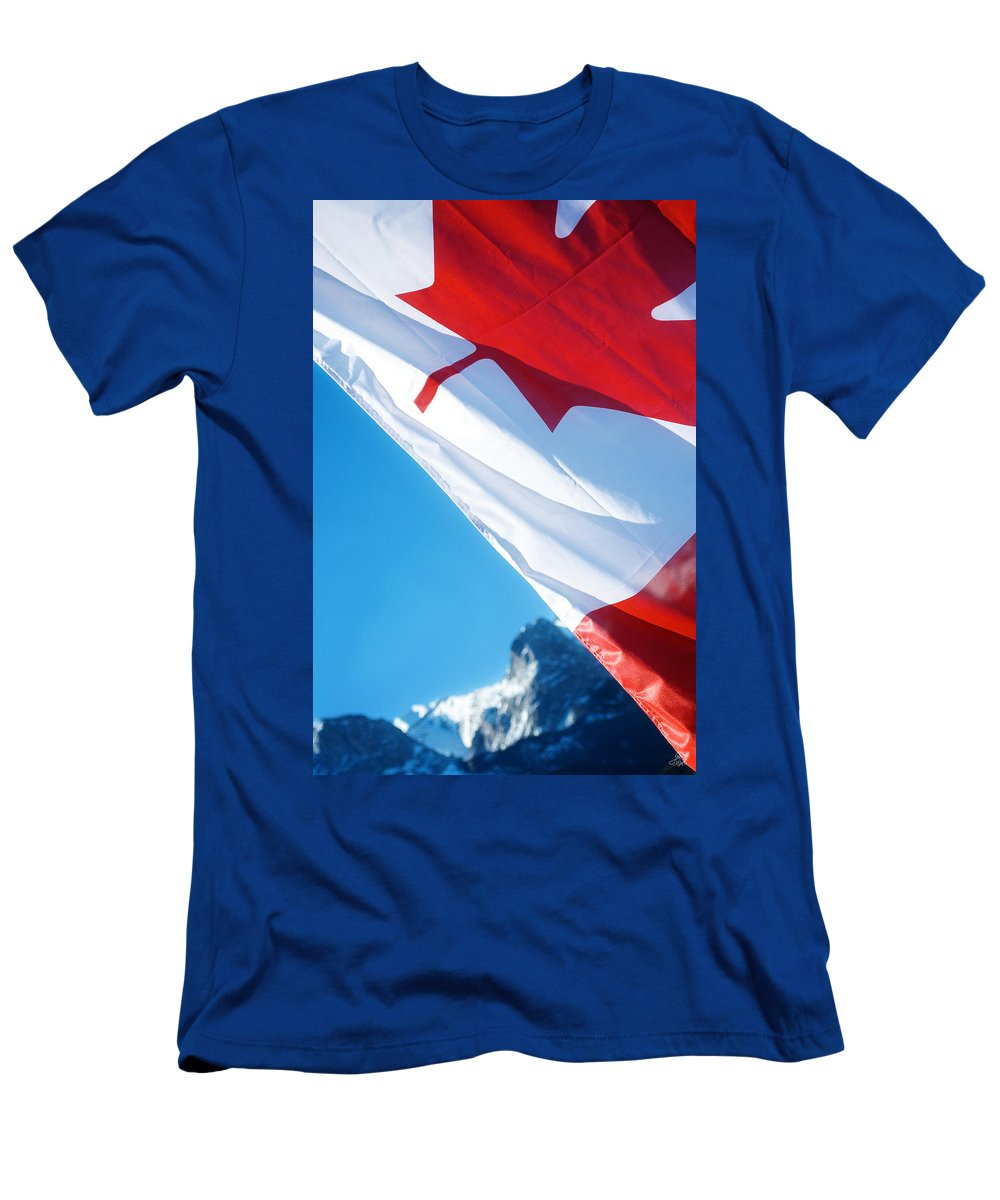 Canada Men's T-Shirt (Athletic Fit) featuring the photograph O Canada by Lisa Knechtel