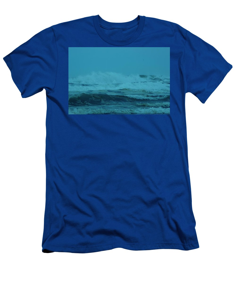 Pacific Ocean Men's T-Shirt (Athletic Fit) featuring the photograph Ocean Waves Incoming by Jeff Swan