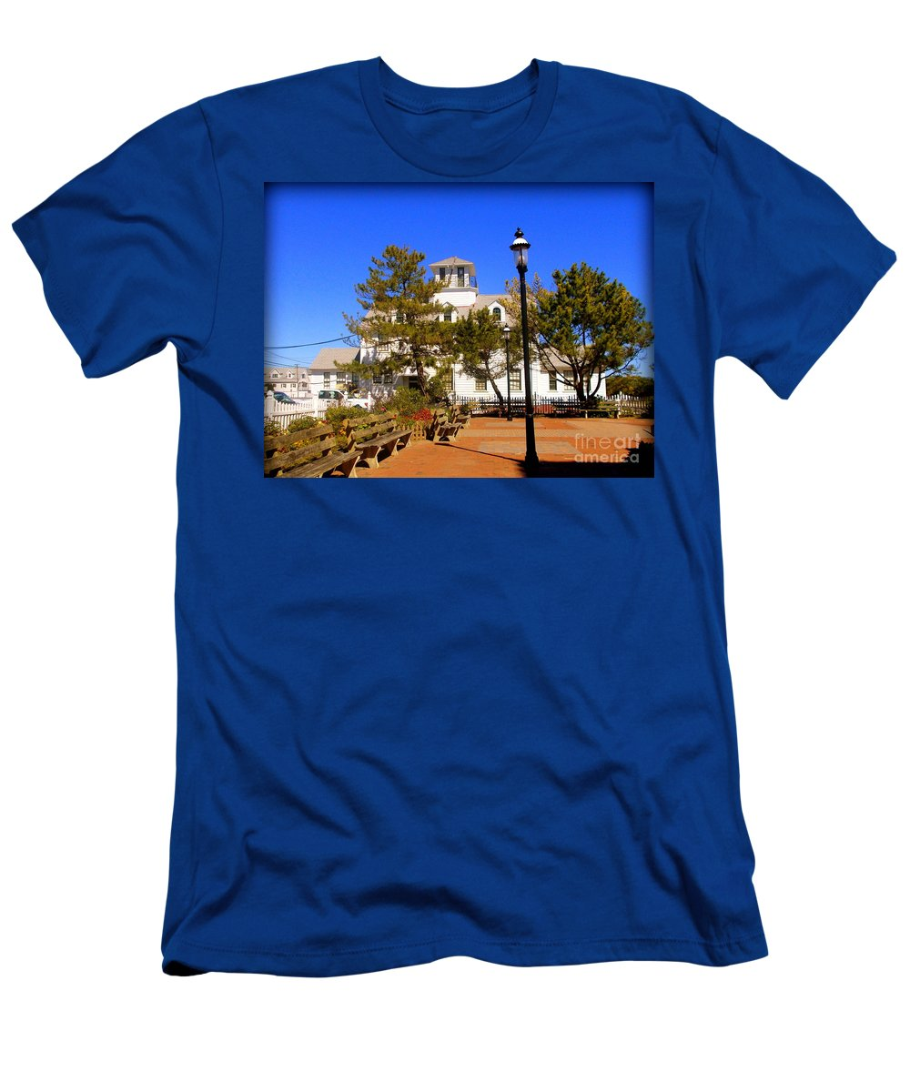 Police Men's T-Shirt (Athletic Fit) featuring the photograph Old Coast Guard Life Boat Station by Pamela Hyde Wilson