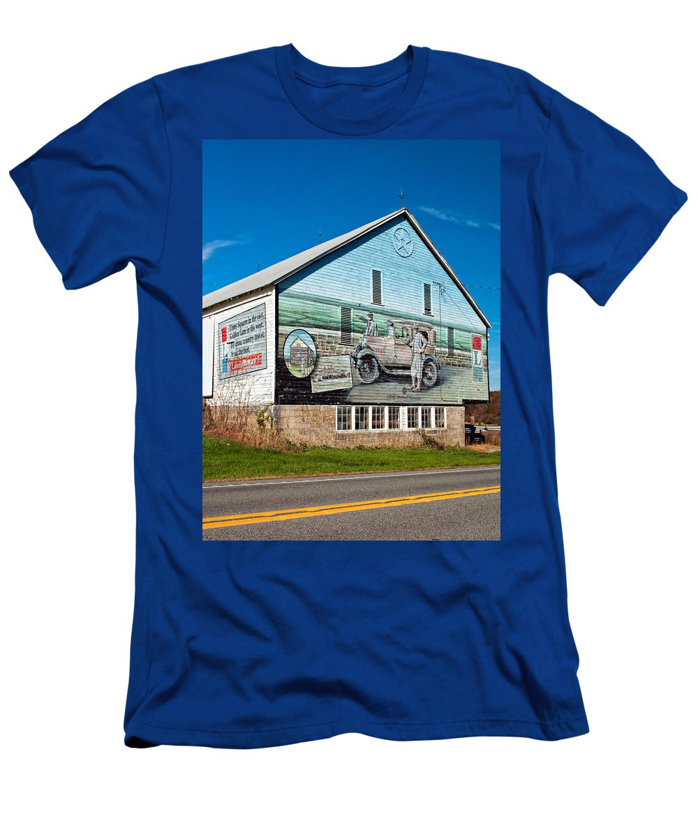 Lincoln Highway Men's T-Shirt (Athletic Fit) featuring the photograph On The Lincoln Highway by Steve Harrington