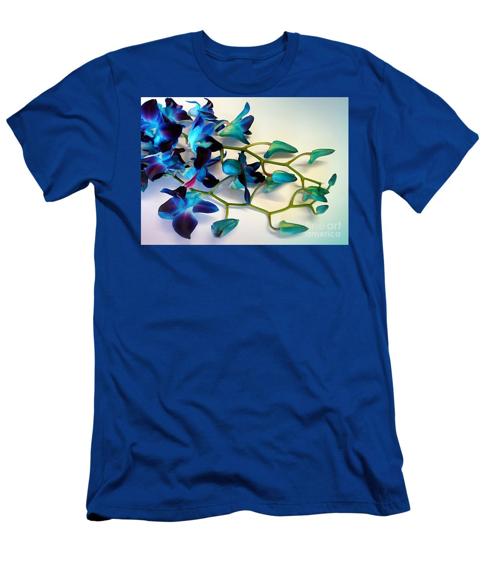 Photography Men's T-Shirt (Athletic Fit) featuring the photograph Orchid Bouquet by Kaye Menner
